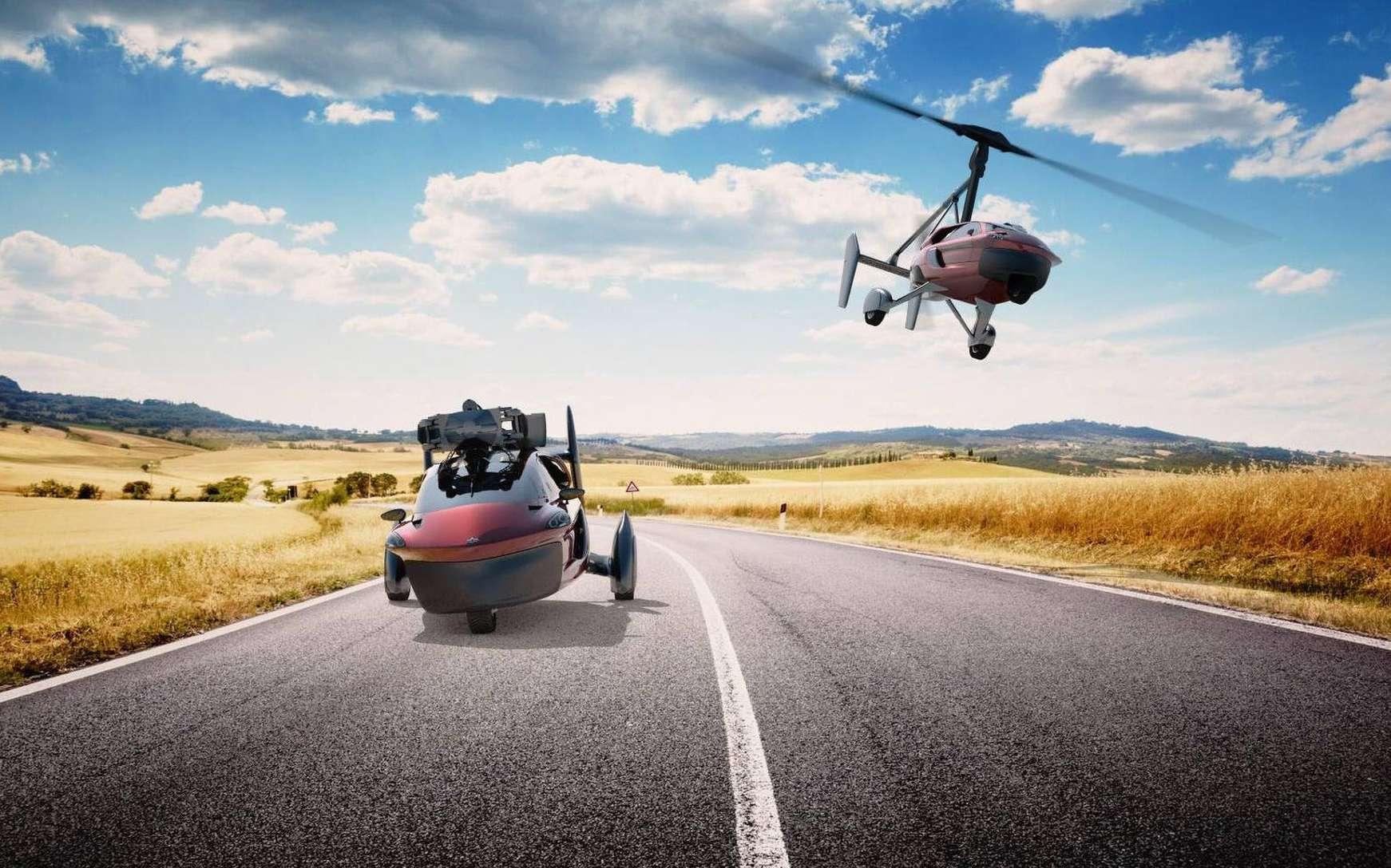 Le vieux fantasme de la voiture volante prend enfin corps avec la PAL-V Liberty, le premier modèle grand public commercialisé par la société néerlandaise PAL-V. © PAL-V