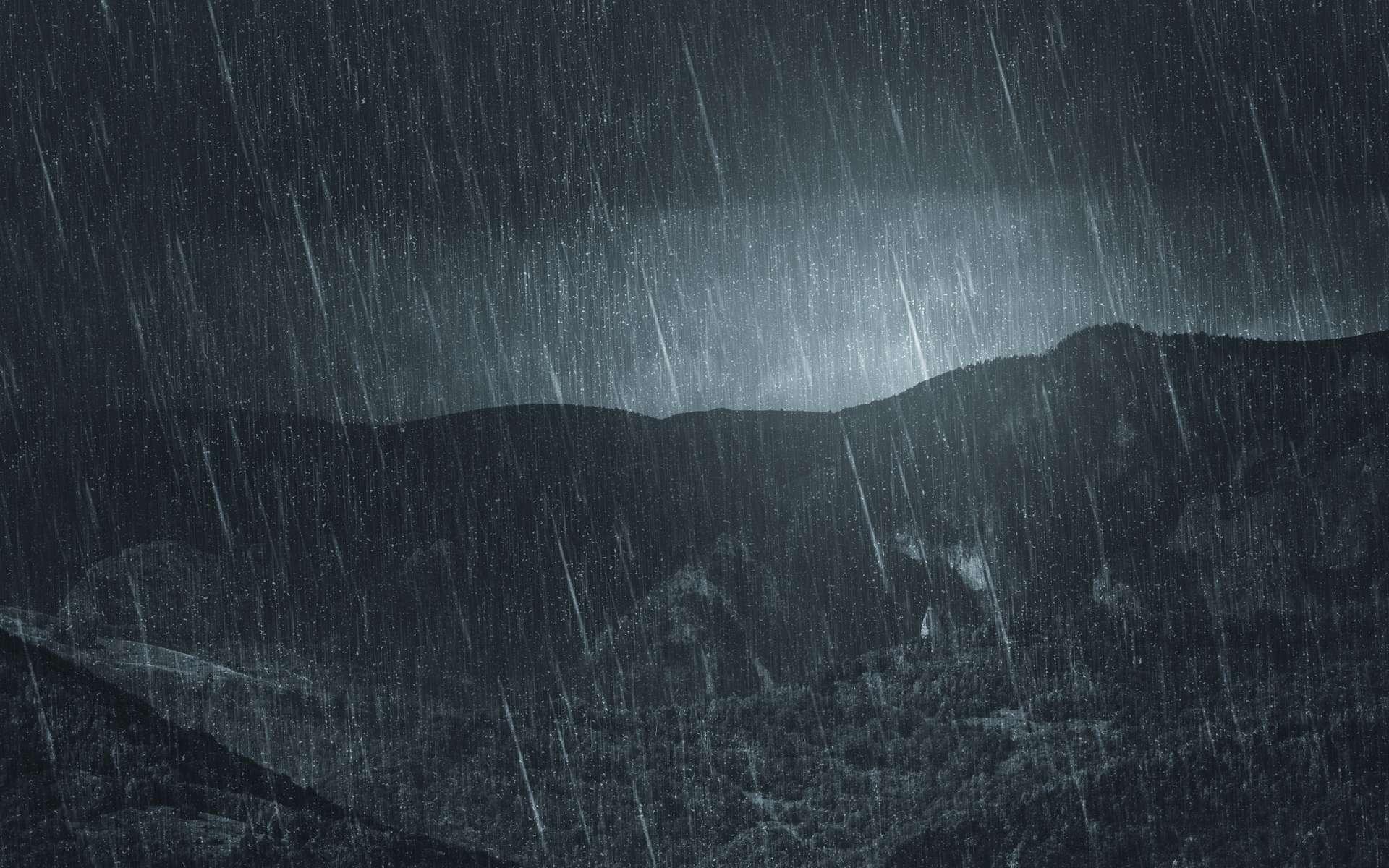 Pluies intenses sur des reliefs montagneux. © andreiuc88, Adobe Stock