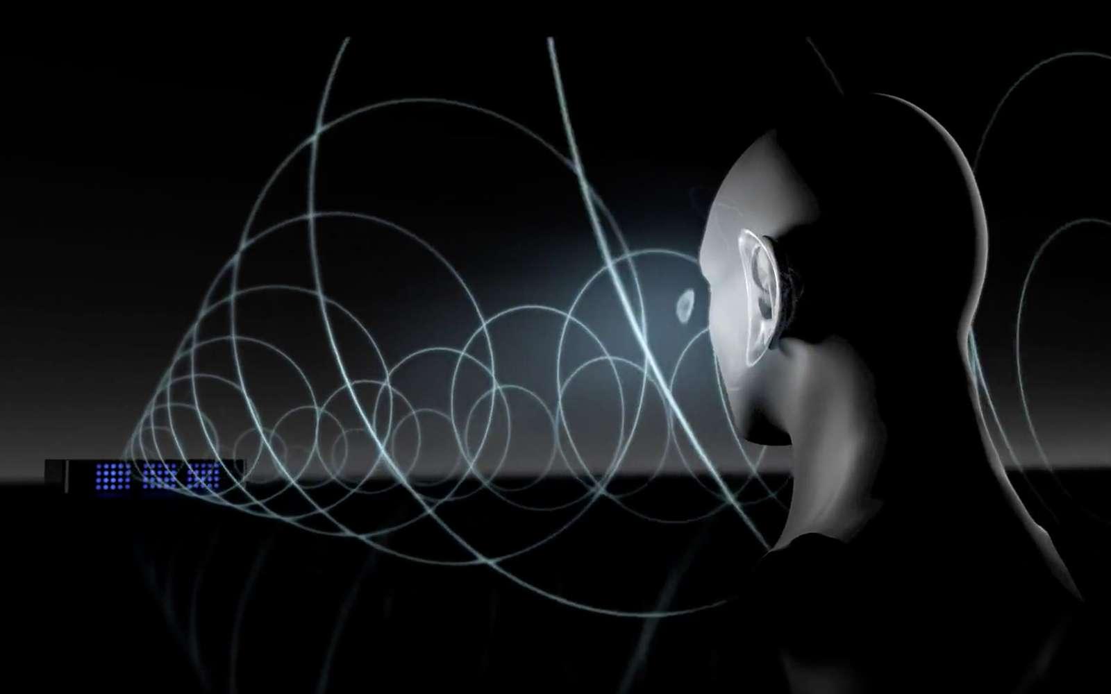 Cette technologie audio permet d'écouter de la musique sans casque, ni écouteurs, et sans déranger les personnes qui vous entourent. © Noveto Systems
