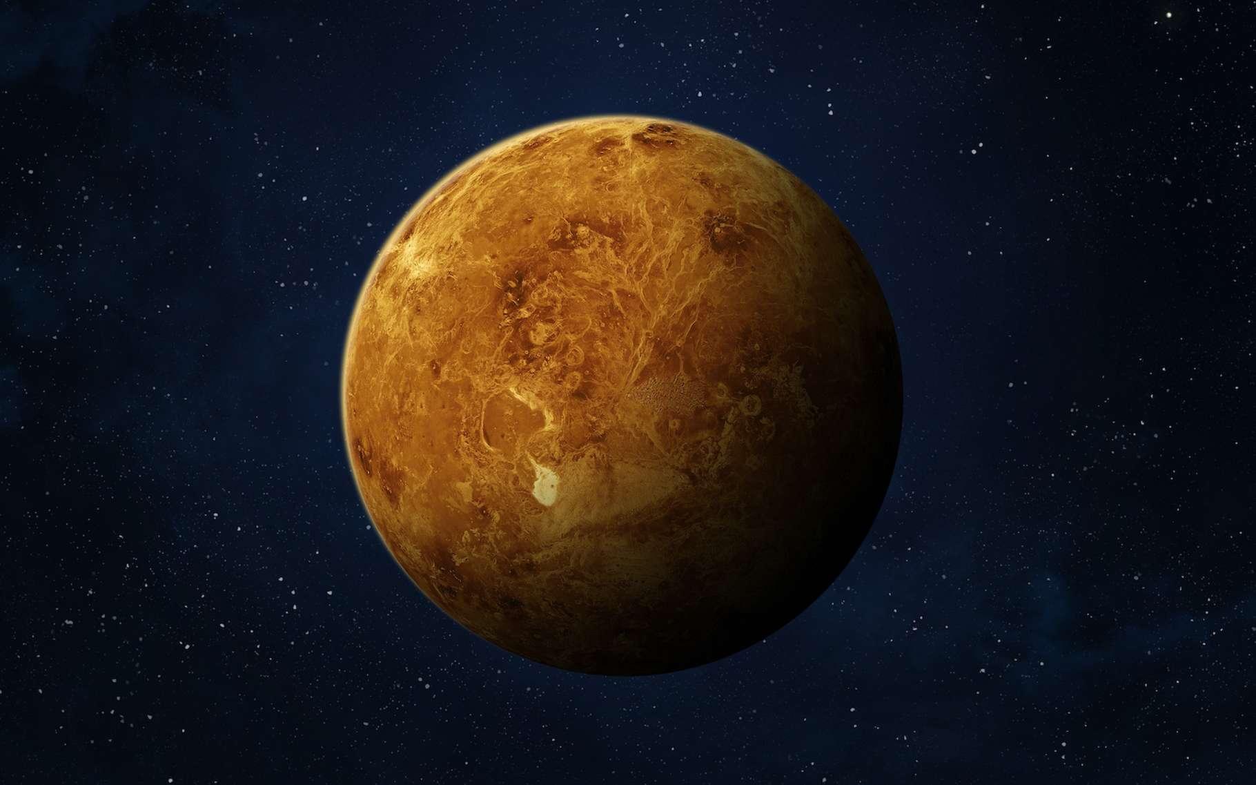 La distance entre le périhélie et l'aphélie de Vénus est de 0,01 unité astronomique seulement, la plus petite de tout le Système solaire. © revers_jr, Adobe Stock