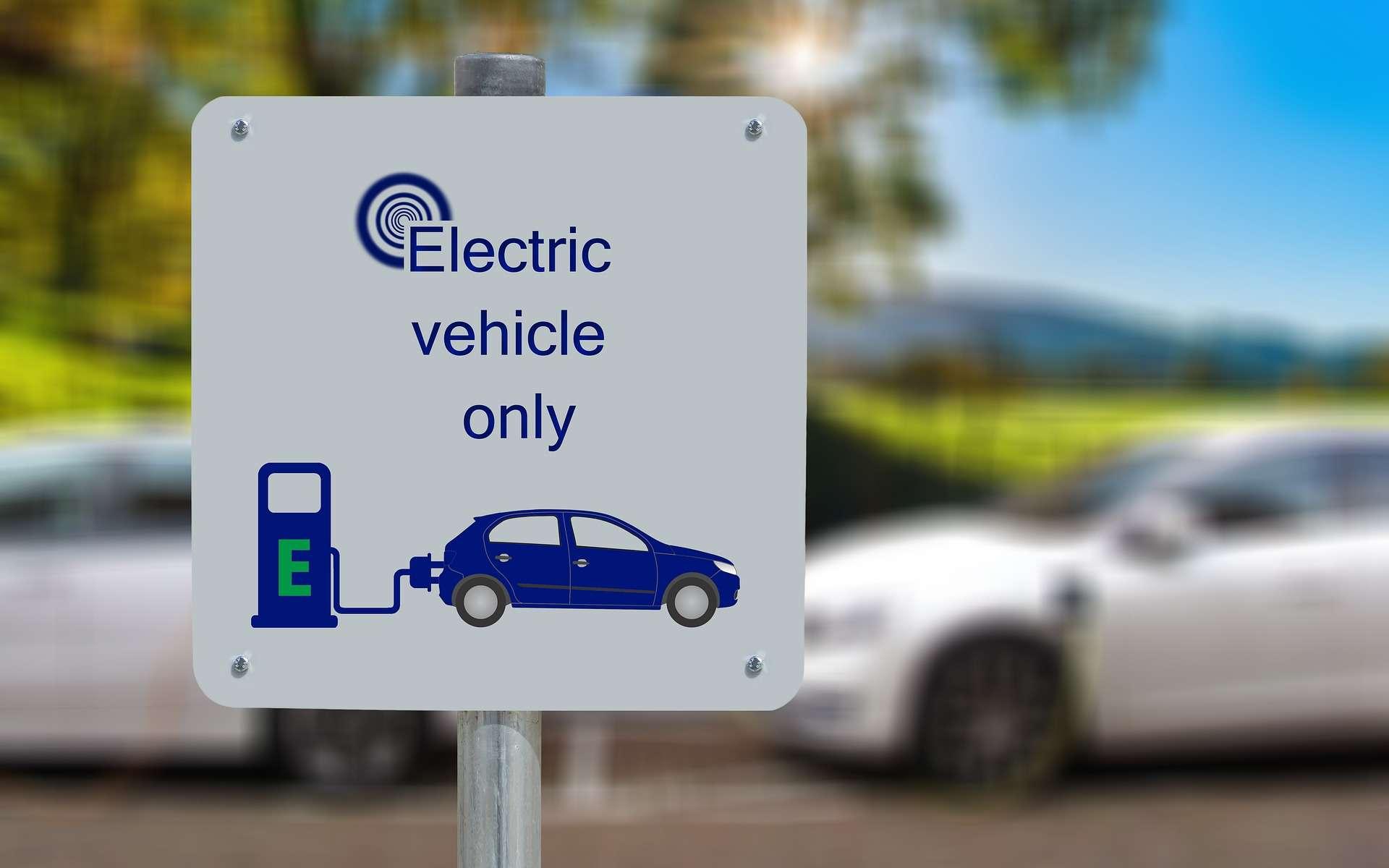 Station de recharge de voiture électrique. © Pixabay