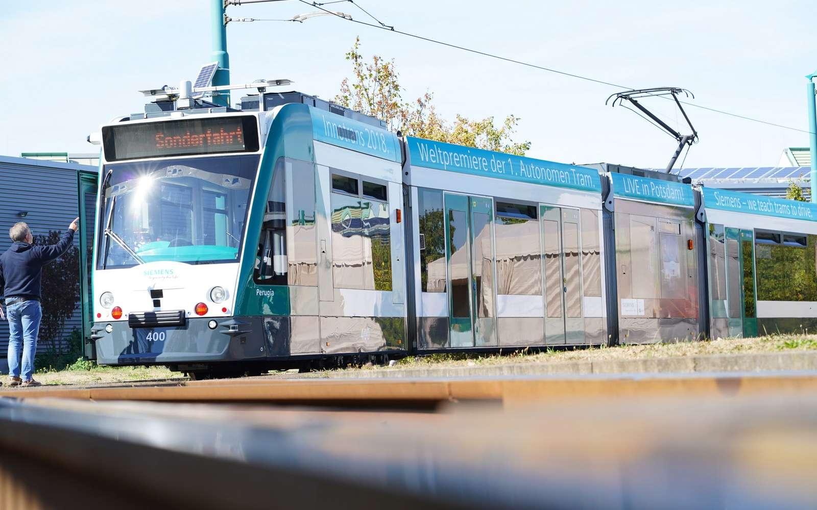 Le tramway autonome de Siemens. © Siemens Mobility