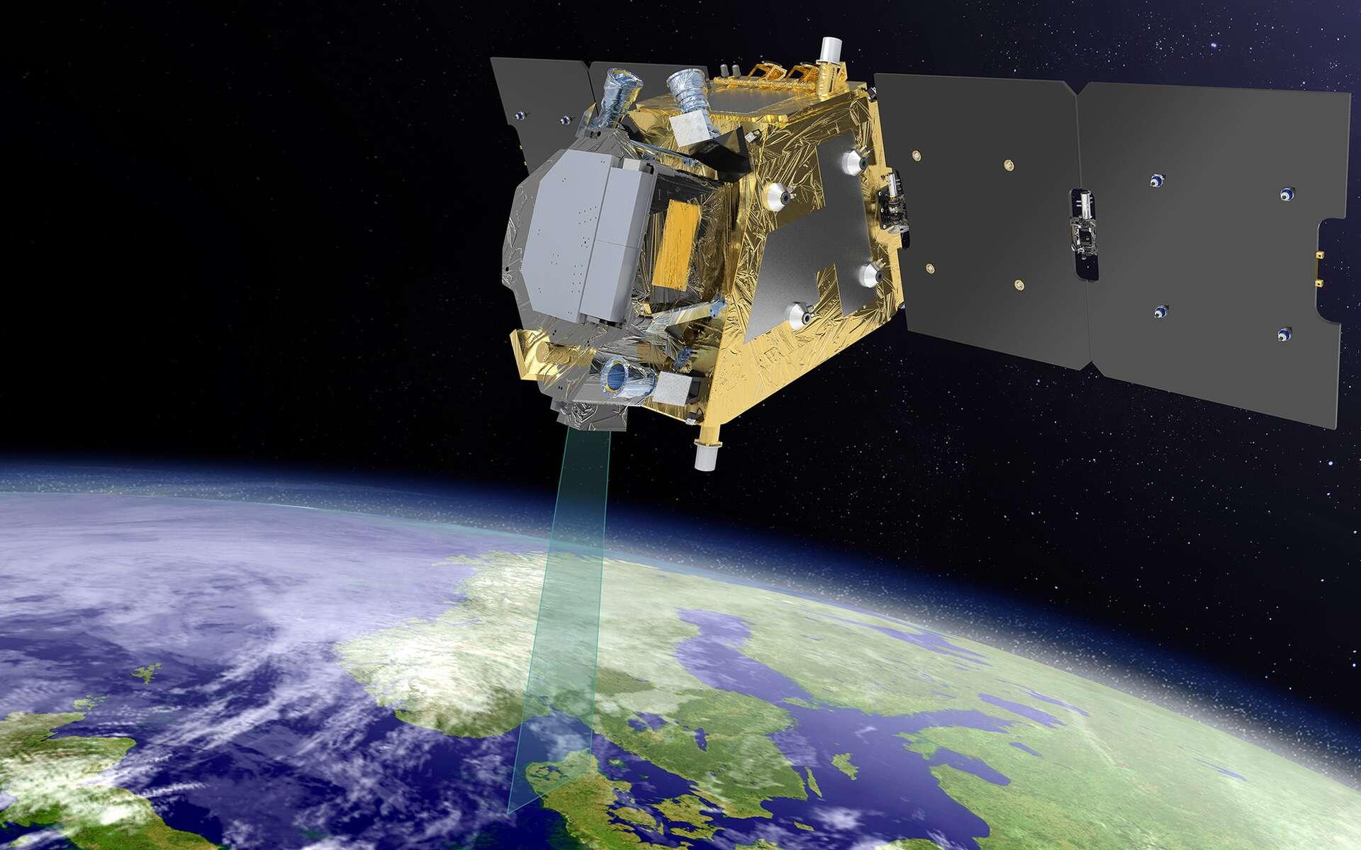 Le satellite Flex aura pour mission de cartographier la fluorescence de la végétation terrestre afin de quantifier l'activité photosynthétique. Ce satellite de l'Agence spatiale européenne sera construit par Thales Alenia Space. © Thales Alenia Space, E Briot
