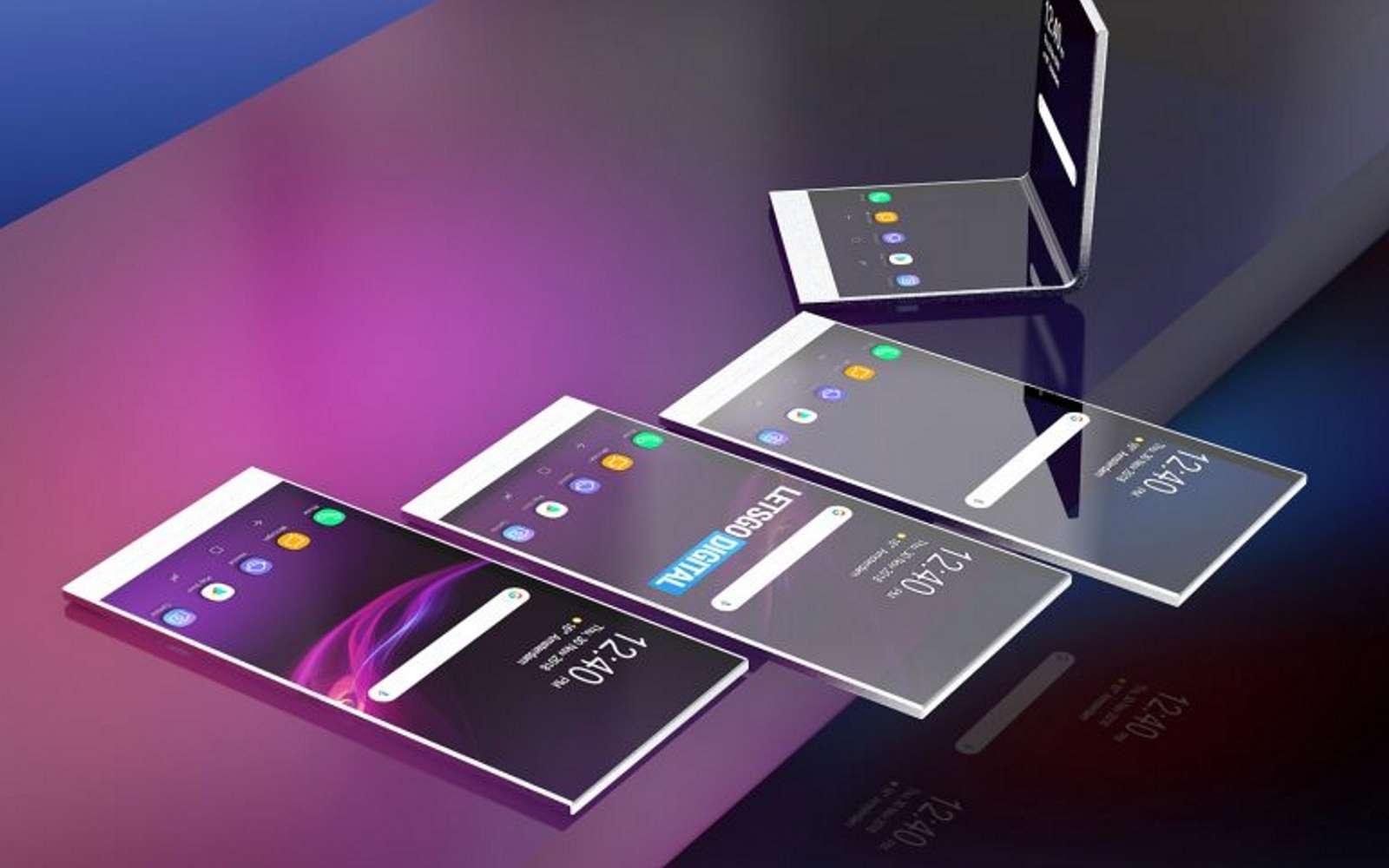 Sony vient d'obtenir la publication d'un brevet décrivant un smartphone, qui pourrait être transparent grâce à la superposition de deux écrans. © Nl.letsgodigital.org