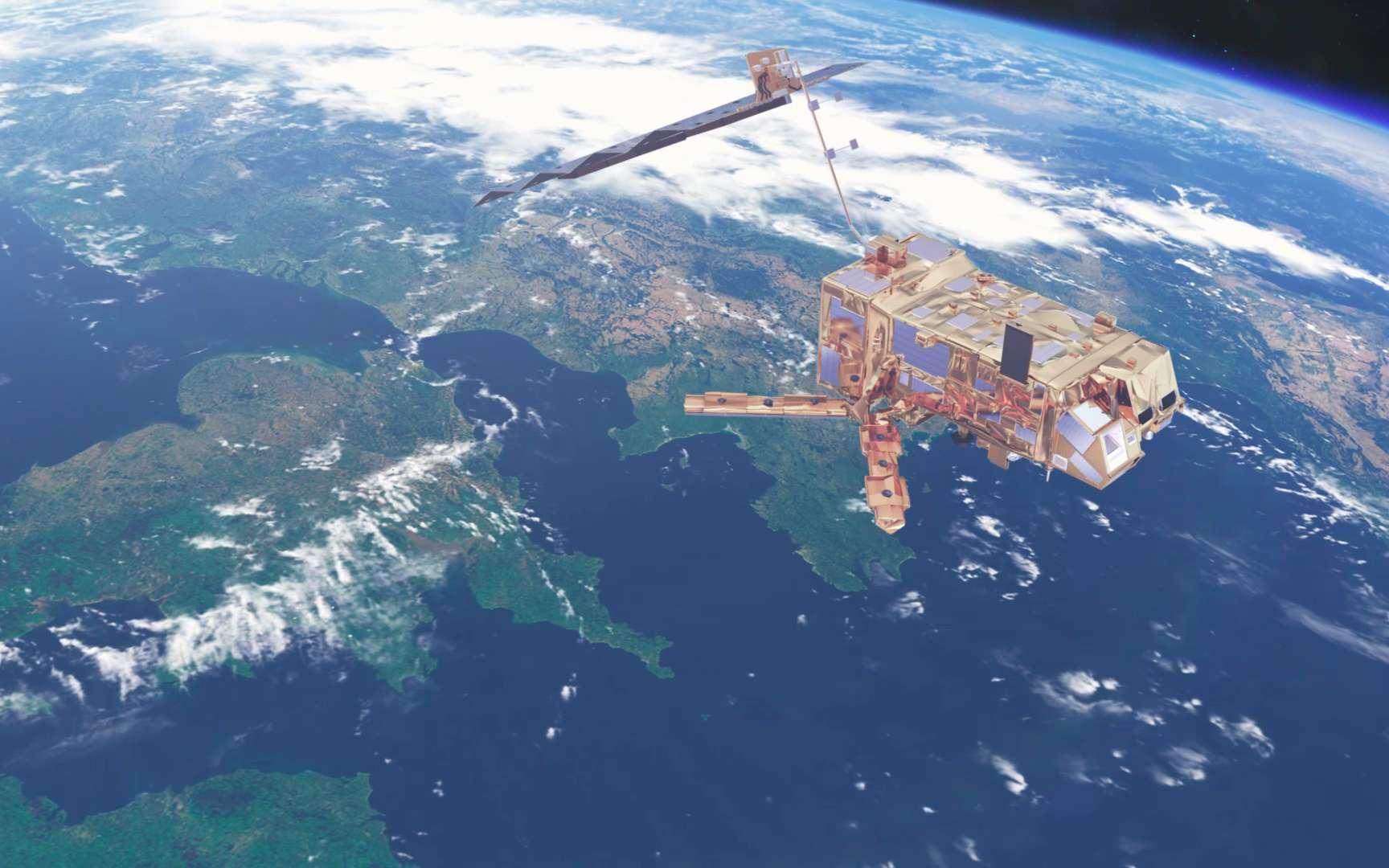Vue d'artiste d'un satellite Metop. © ESA