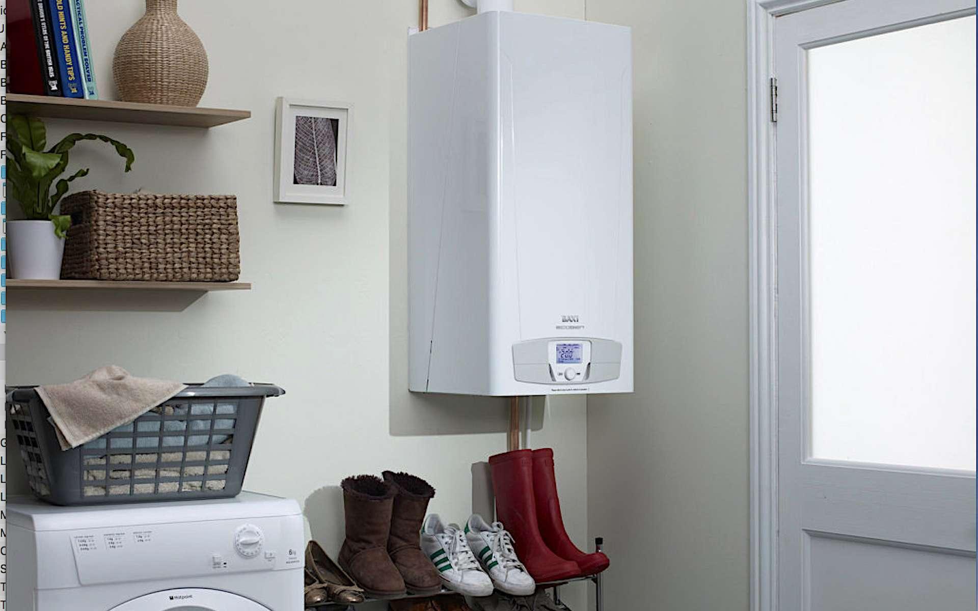 La chaudière à micro-cogénération produit chaleur et électricité. © Baxi Ecogen