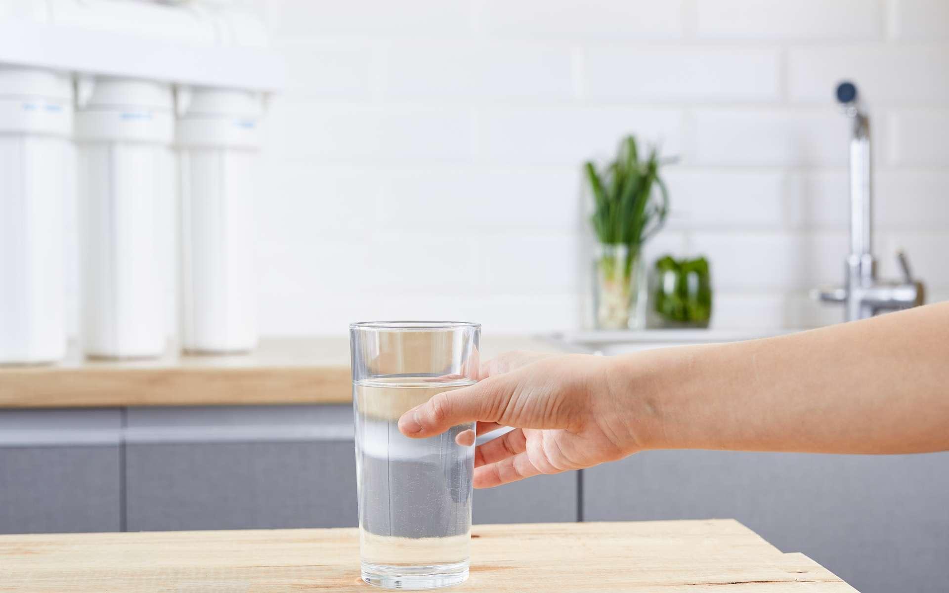 Un modèle d'osmoseur utilisant l'osmose inverse dans le but de filtrer l'eau de façon optimale. © wertinio, Adobe Stock