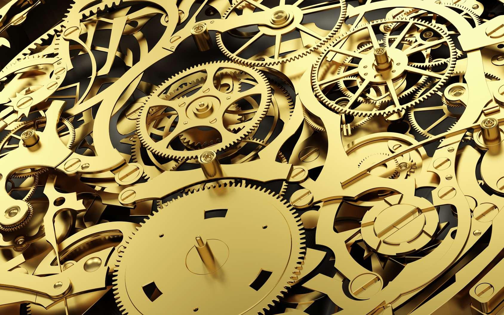 Gros plan sur un mécanisme d'horlogerie suisse. © Photocreo Bednarek, fotolia