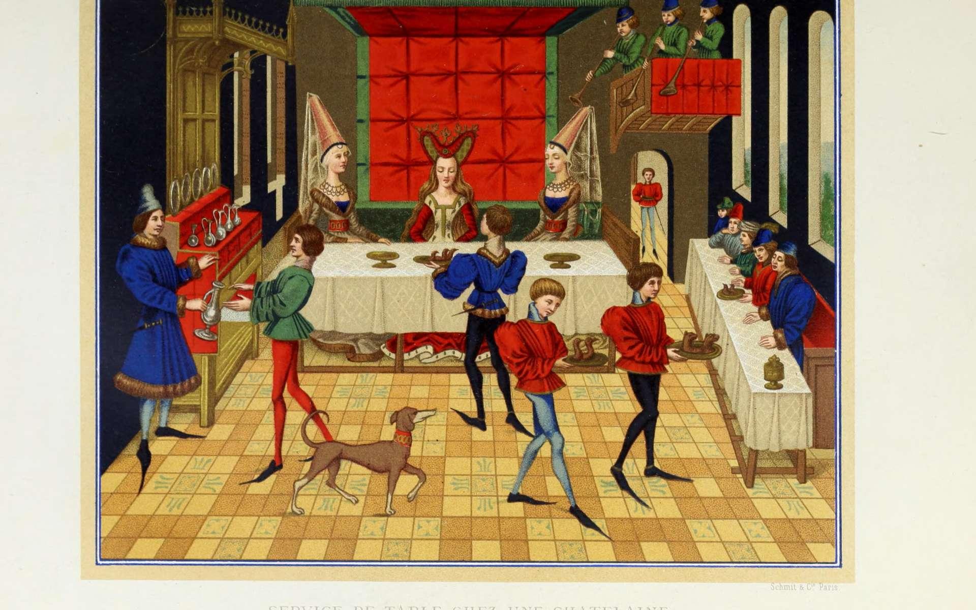 Illustrations de Mœurs, usages et costumes au Moyen Âge et à l'époque de la Renaissance, par Paul Lacroix (Jacob), 1871. © Wikimedia Commons, Flickr, domaine public