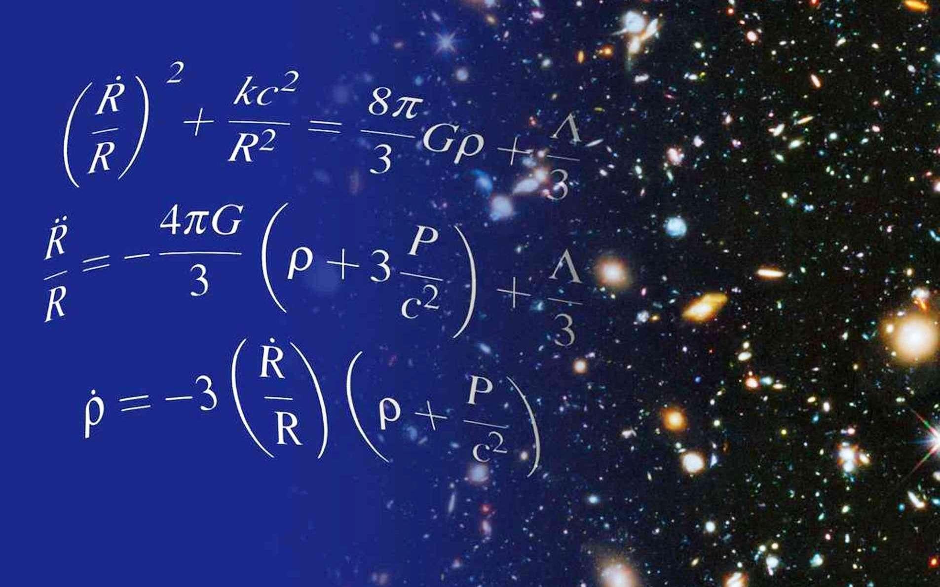 Les équations de la cosmologie relativiste posent des questions en rapport avec l'origine de l'expansion accélérée du cosmos observable. © Nasa, Shane Larson