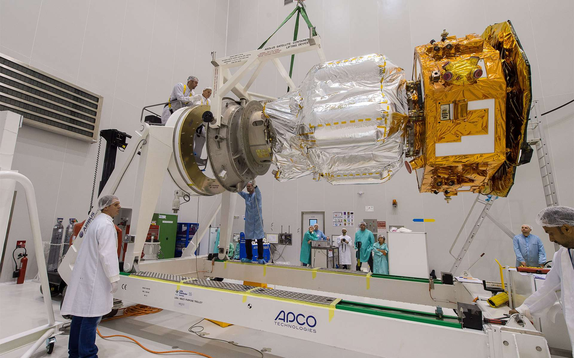Lisa Pathfinder a été lancé le 3 décembre 2015 par Arianespace. Courant janvier, il a atteint le point Lagrange 1, son orbite de travail, situé à environ 1,5 million de kilomètres de la Terre. Après une phase de recette, la démonstration a débuté le premier mars. © Esa-Cnes-Arianespace / Optique Vidéo du CSG - S. Martin