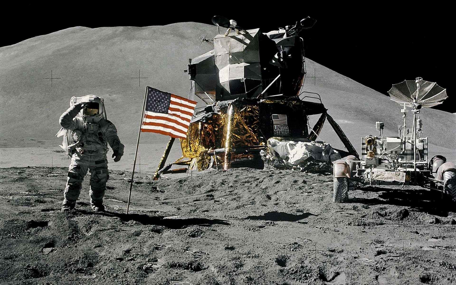 Apollo 17, la dernière mission du programme Apollo de la Nasa (décembre 1972). © Nasa