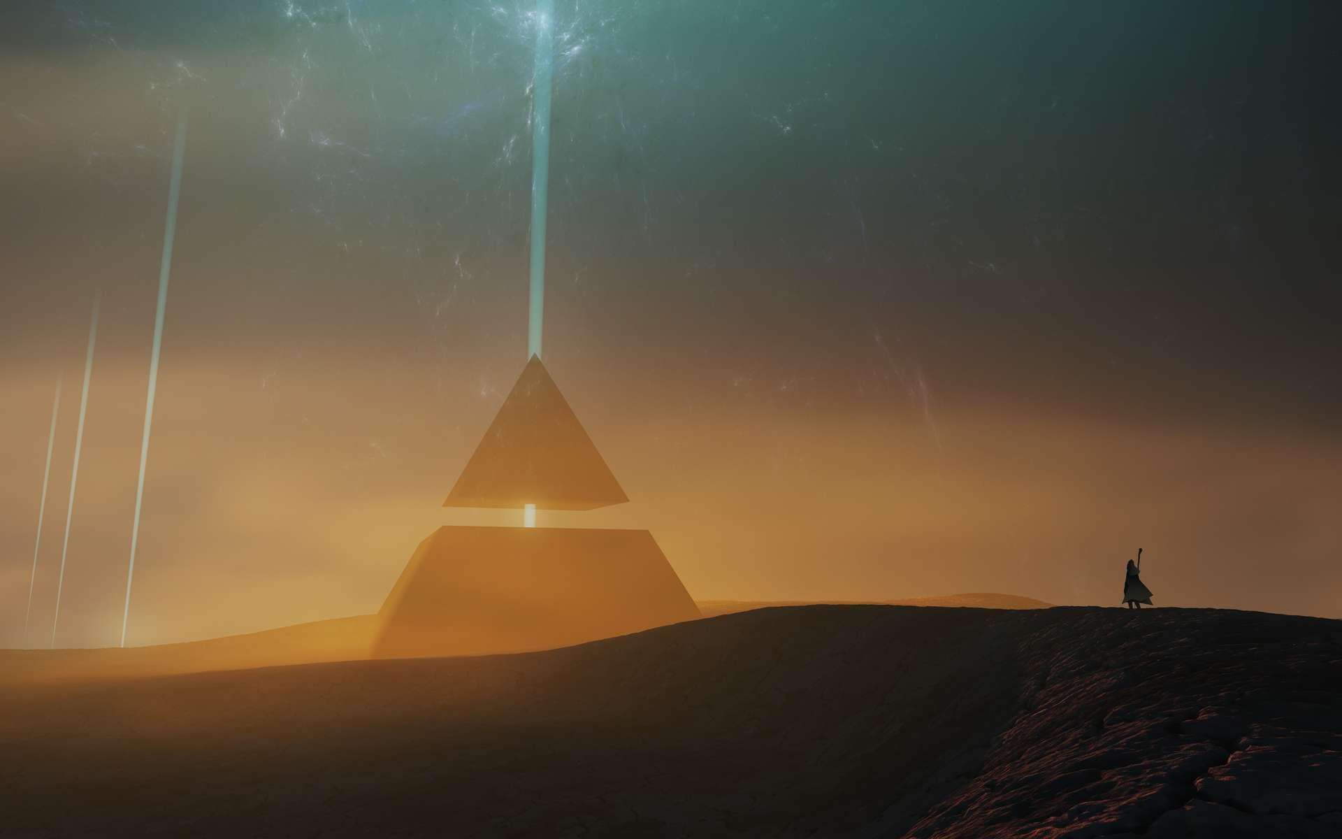 Dans le jeu des Trois corps, désert où règnent les climats les plus extrêmes, seule résiste, solitaire, une pyramide qui traverse les siècles. © andreiuc88, Adobe Stock