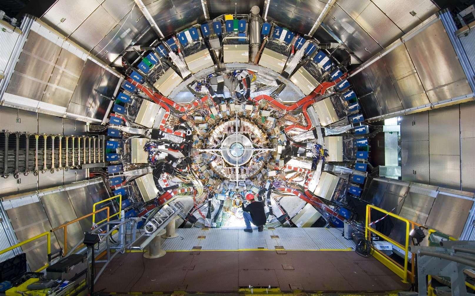 Un élément du détecteur Atlas au Cern. Crédit : Cern