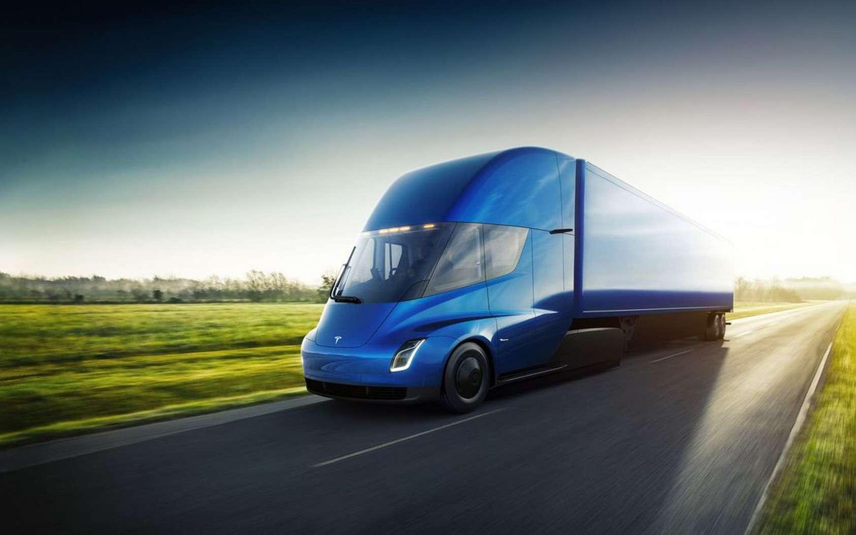 Le camion électrique Tesla devient réalité. © Tesla