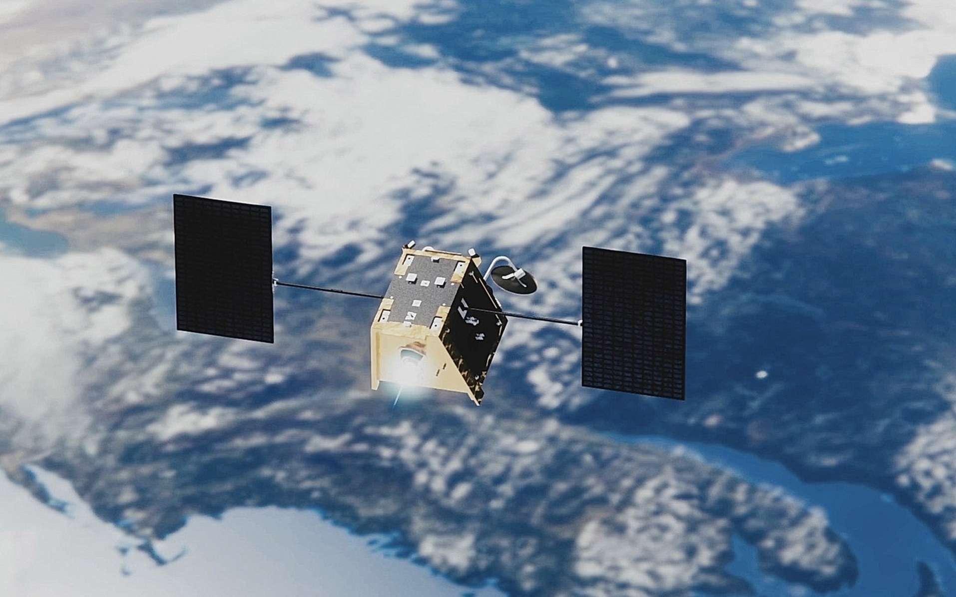 Un des satellites de la constellation OneWeb qui pourra en compter jusqu'à 2.620. © Airbus, OneWeb