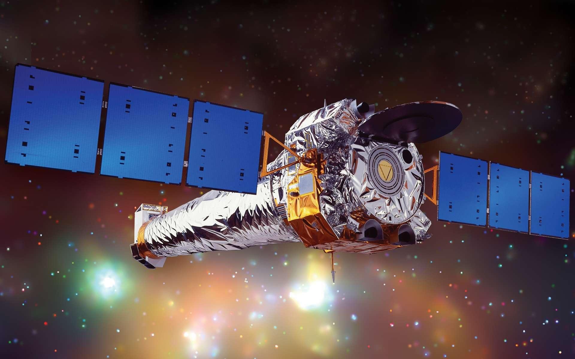 Une vue d'artiste de Chandra, le télescope spatial à rayons X. © Nasa