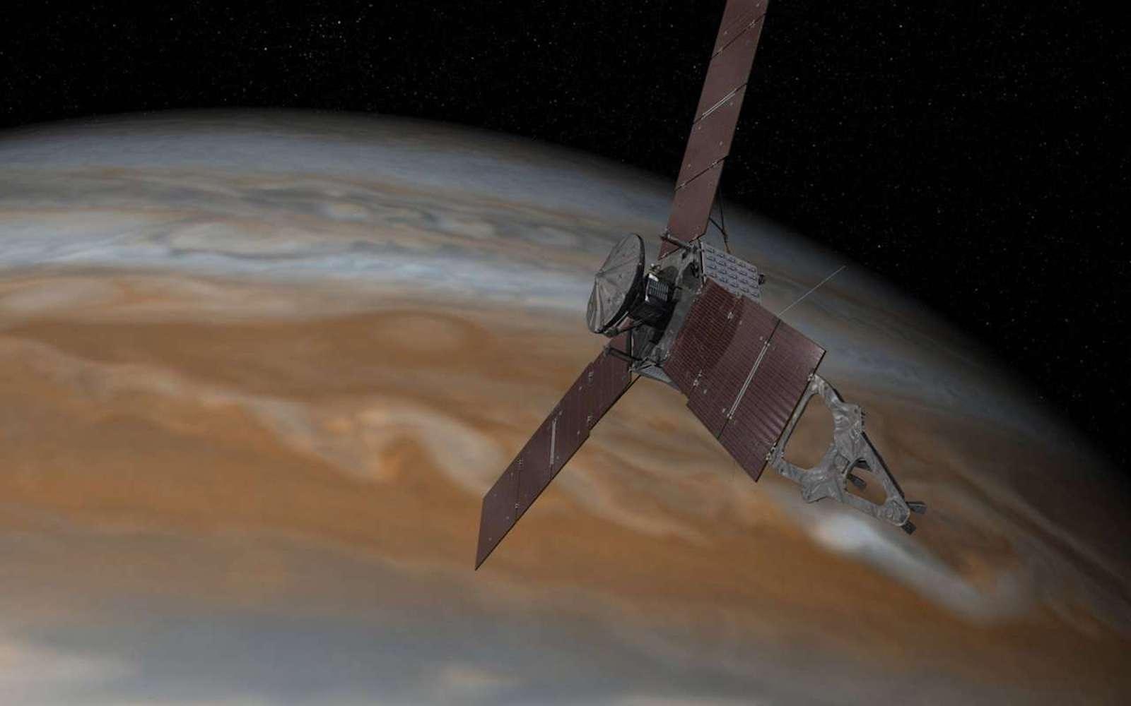 La sonde Juno étudie la planète Jupiter. © NASA / JPL