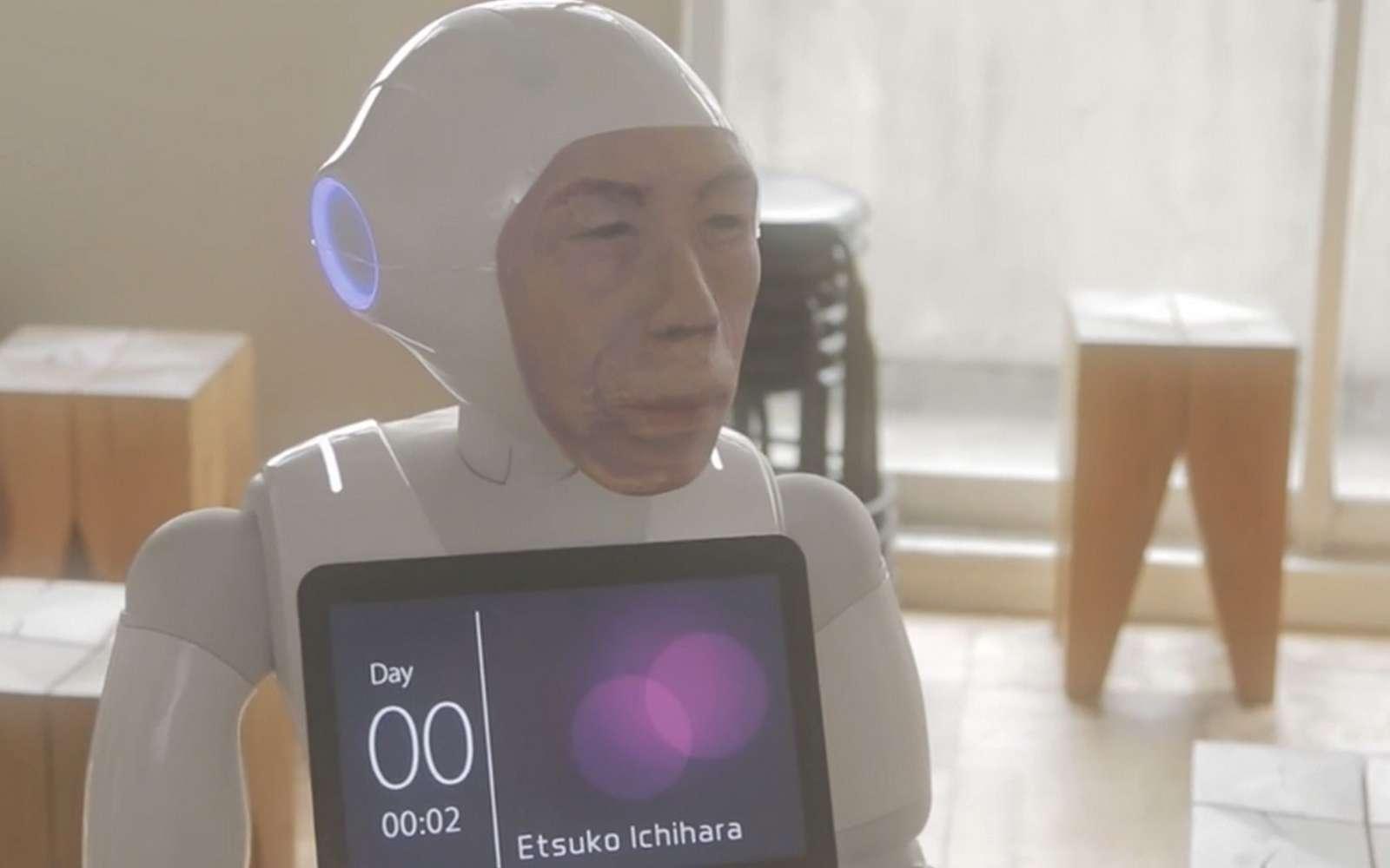 Le robot d'assistance au deuil. © Etsuko Ichihara
