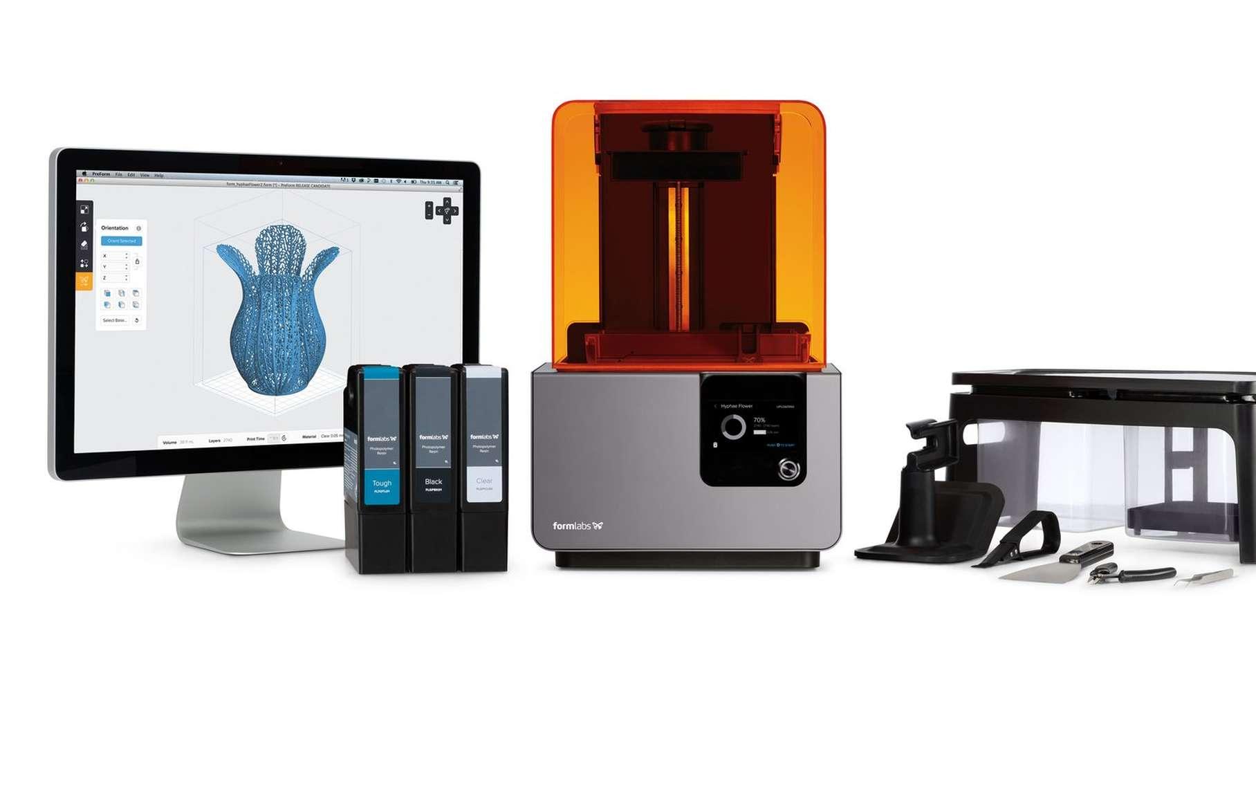 L'impression 3D par stéréolitographie permet la création de pièces et de prototypes. © Formlabs