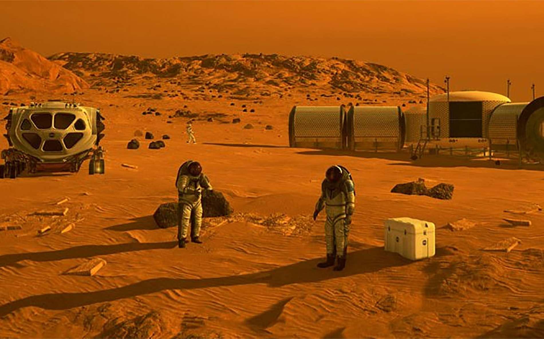 Concept de base martienne. © Nasa