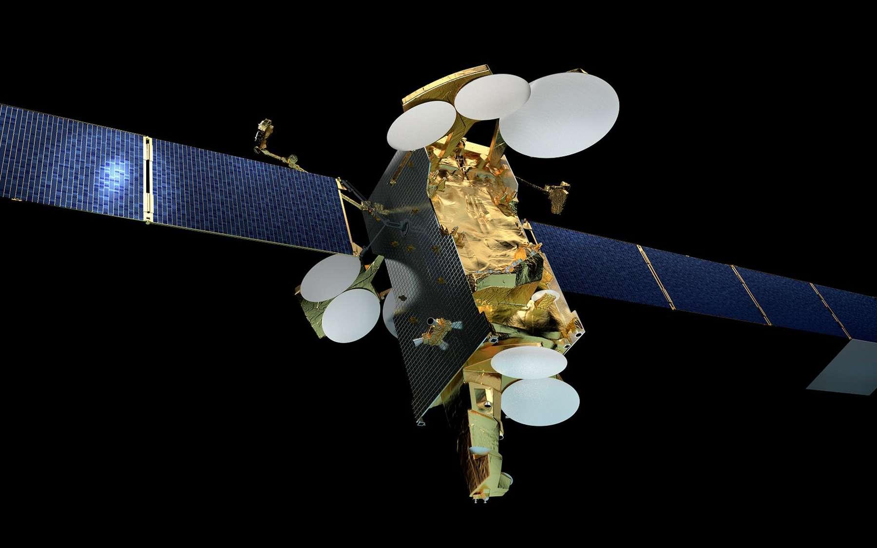 Vue d'artiste du satellite SES-12. © Airbus Defence and Space, SAS 2014