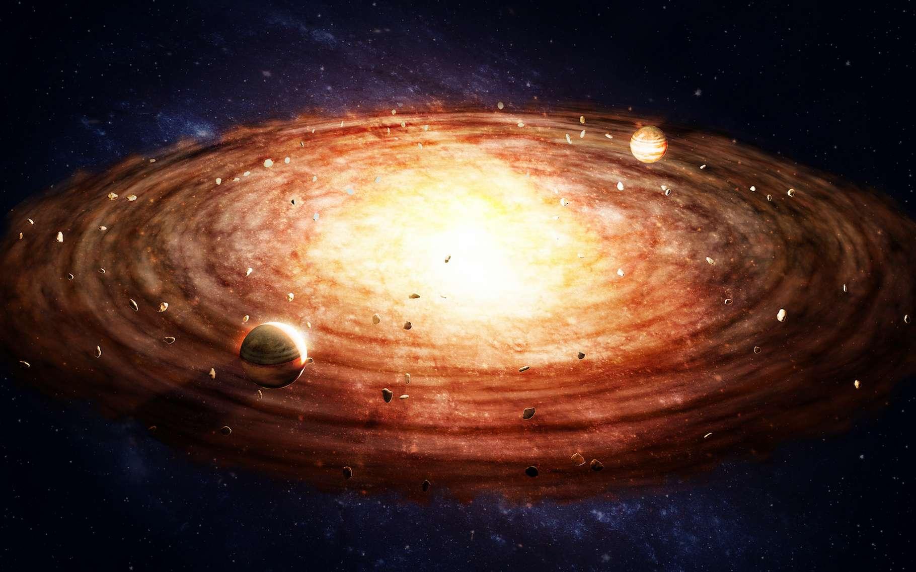 Des chercheurs ont décidé de scruter des disques protoplanétaires en quête de molécules organiques. Leur objectif : comprendre si la vie a pu émerger ailleurs dans l'Univers. © Mopic, Adobe Stock