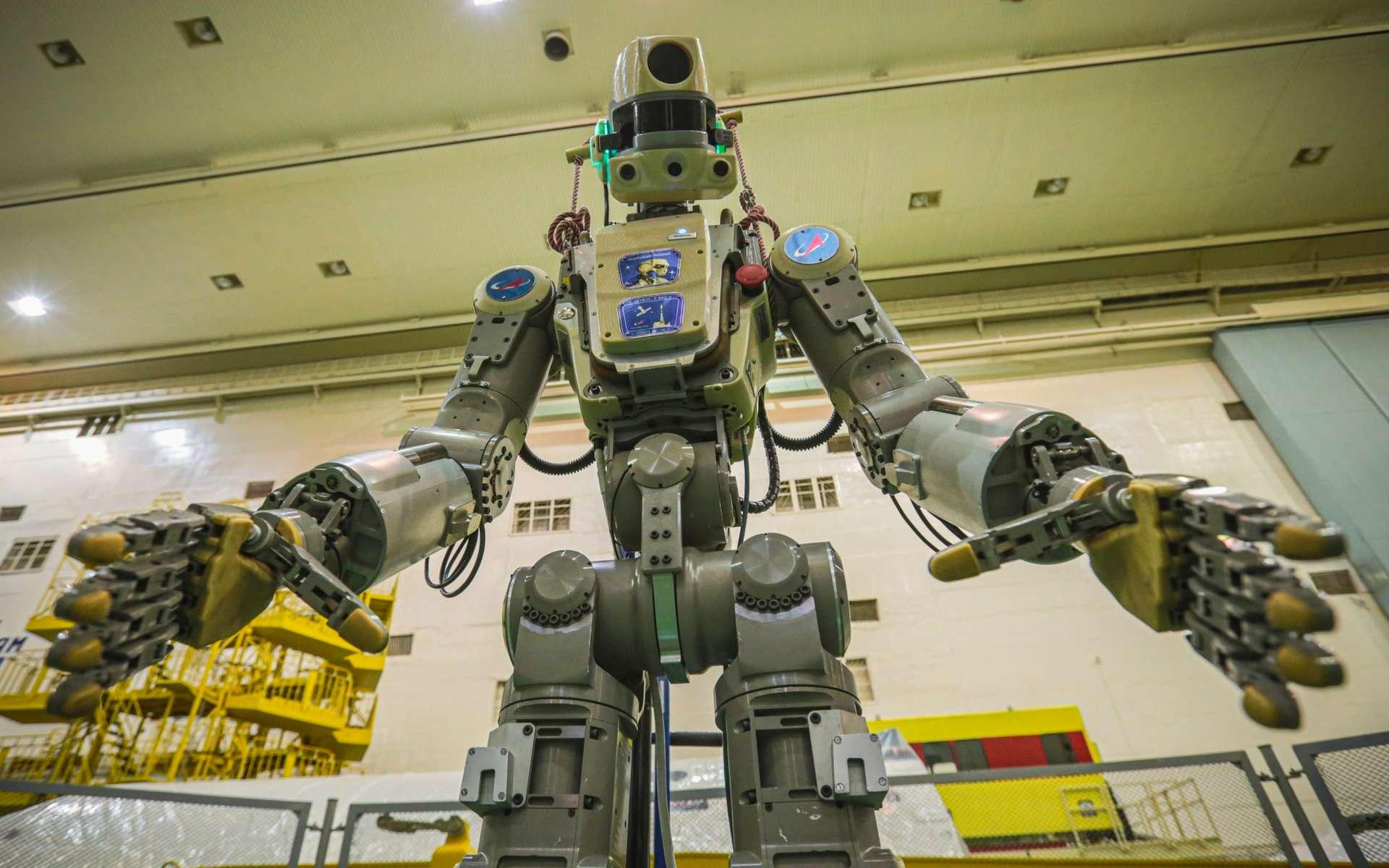 Le robot russe anthropomorphique Fedor (Skybot F-850). Ce robot a été lancé le 22 août à bord d'une capsule Soyouz à destination de la Station spatiale internationale (ISS). © Roscosmos