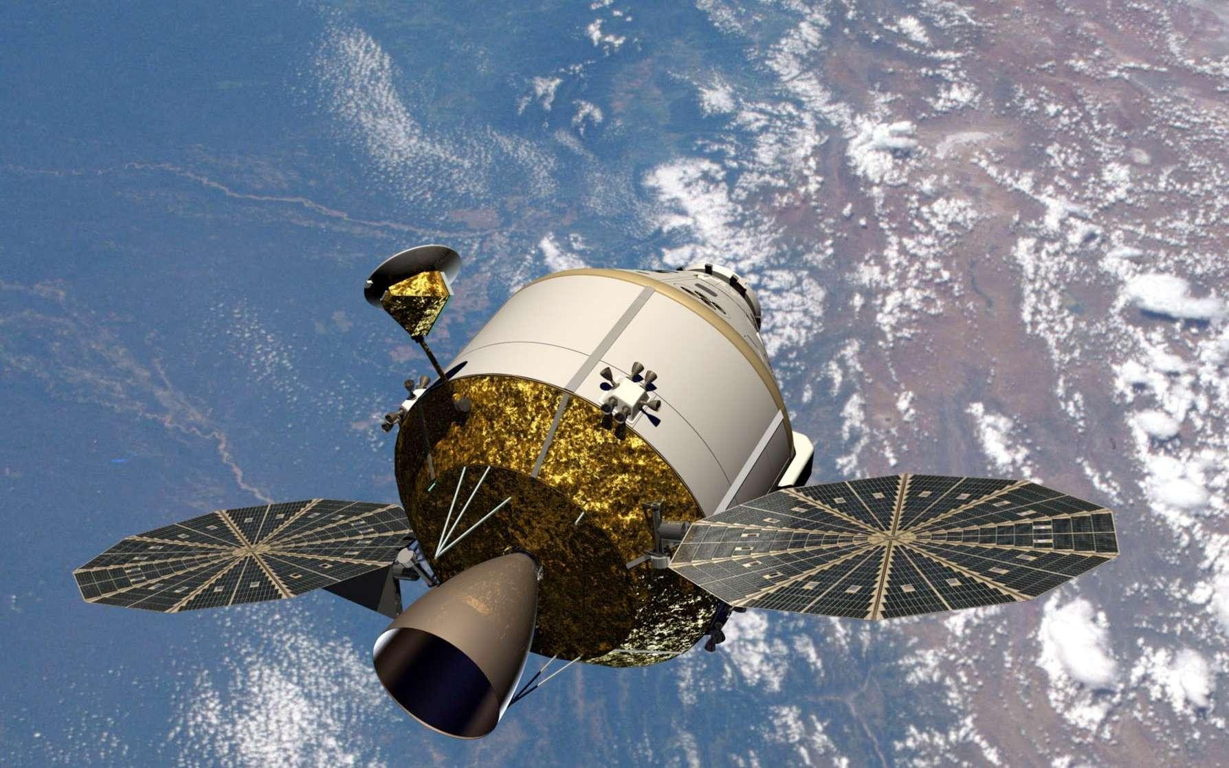 Lockheed Martin veut effectuer un vol d'essai de sa capsule Orion en 2013 en vue d'un second qui serait une mission habitée. © Lockheed Martin