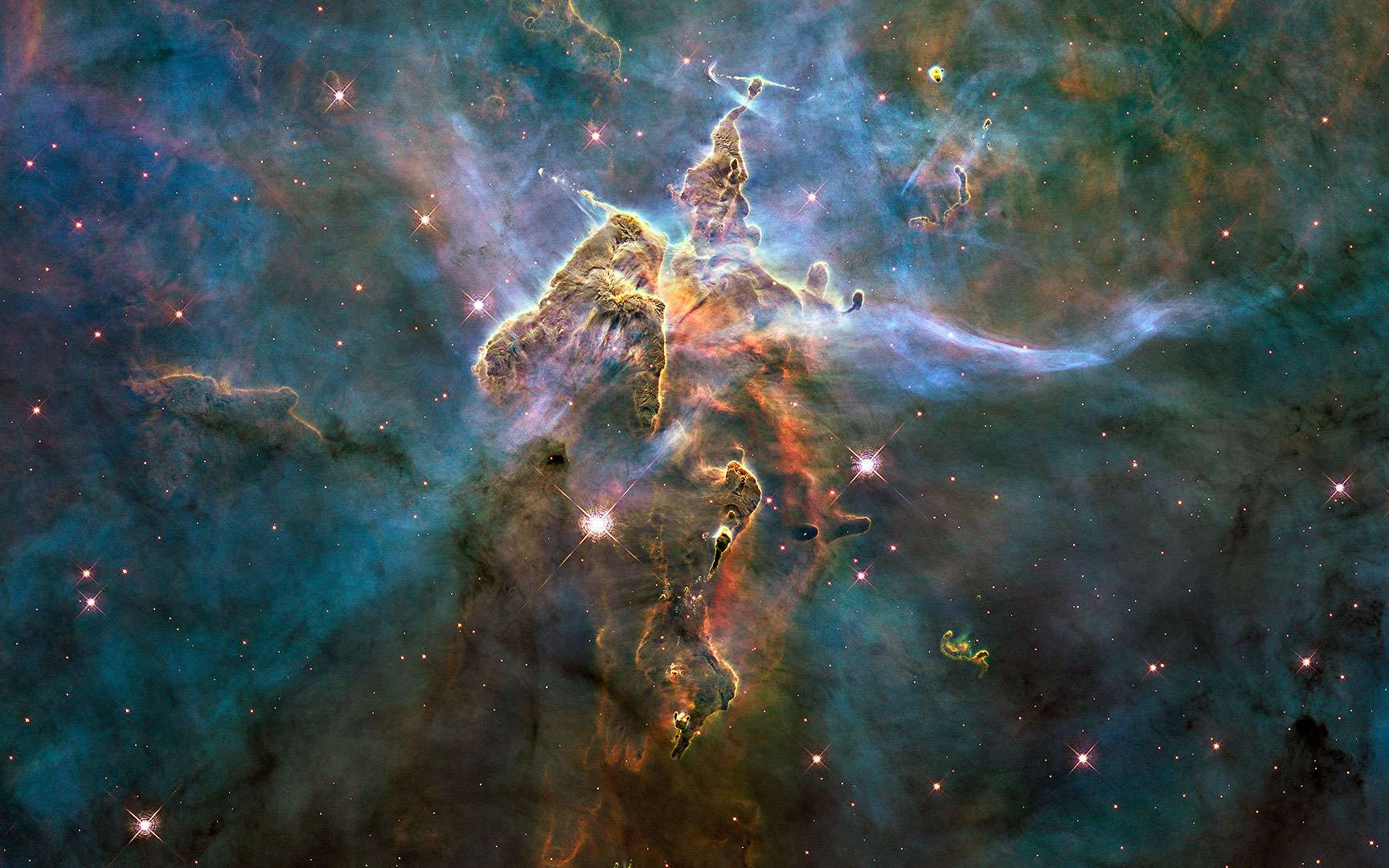 Hubble : nuage d'étoiles du Sagittaire. Crédits ESA / NASA & The Hubble Heritage Team