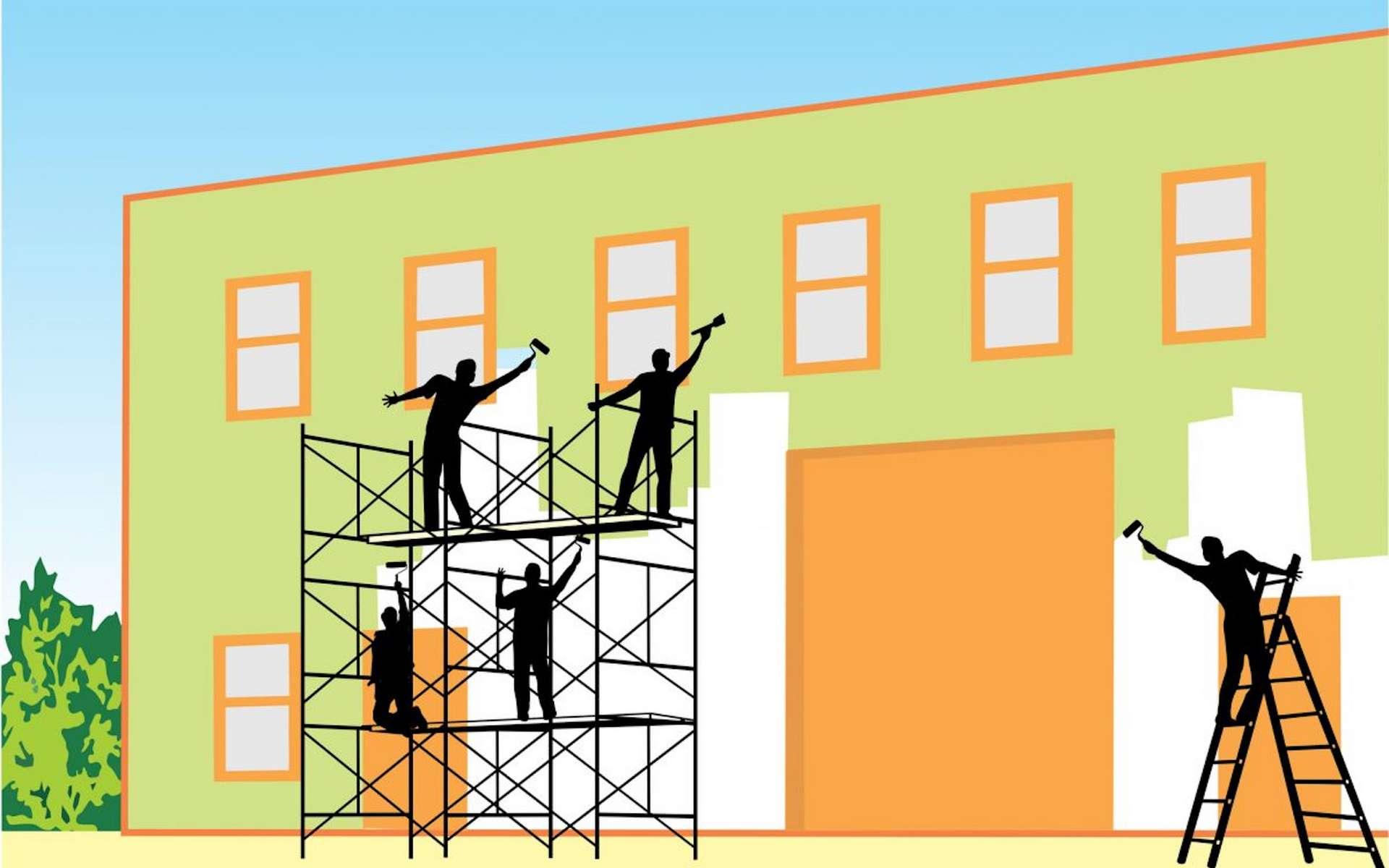 Peindre les murs extérieurs pour embellir et protéger sa maison. © Ecobra.be