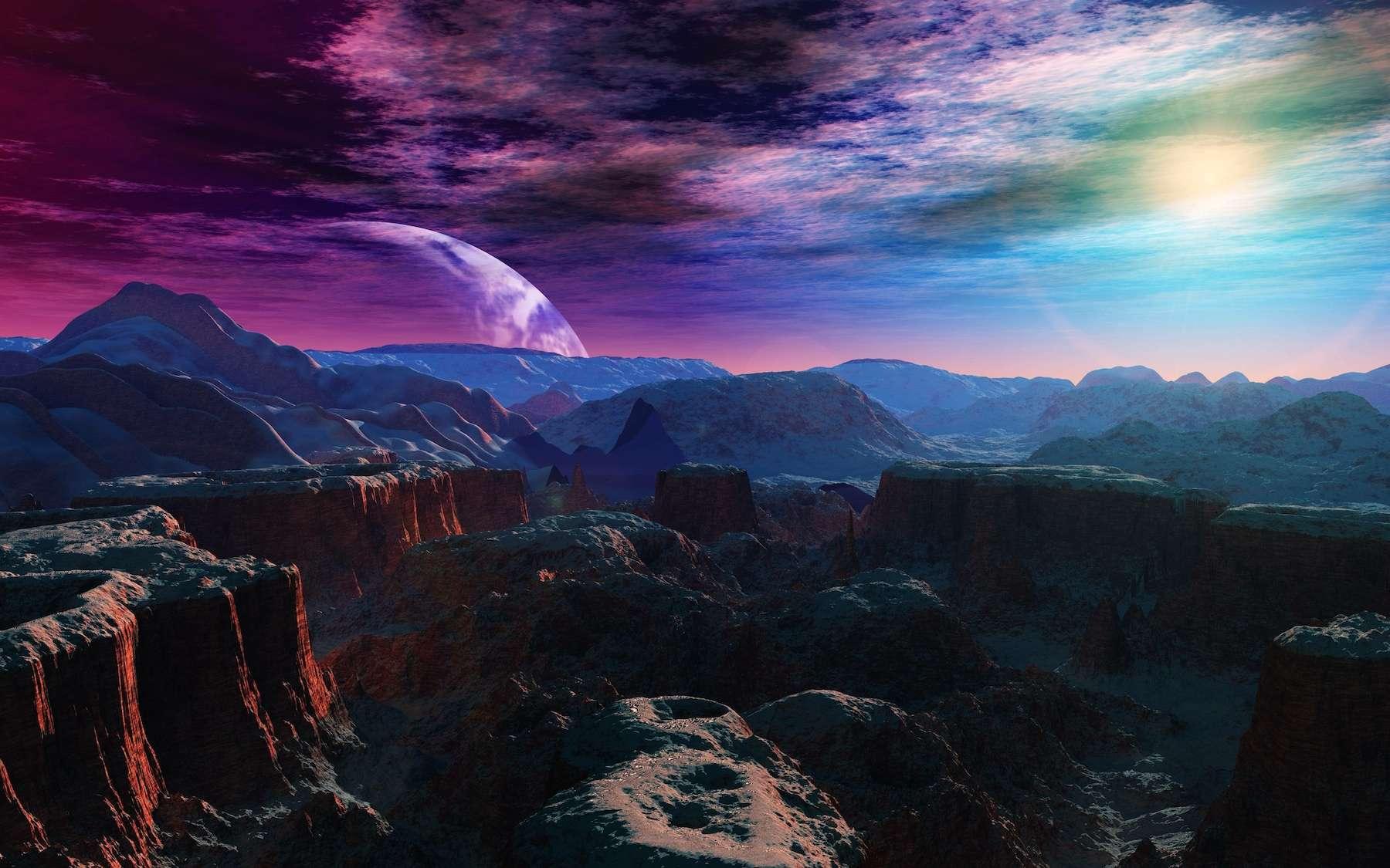 Une étoile pourrait héberger jusqu'à sept exoterres. © ustas, Adobe Stock