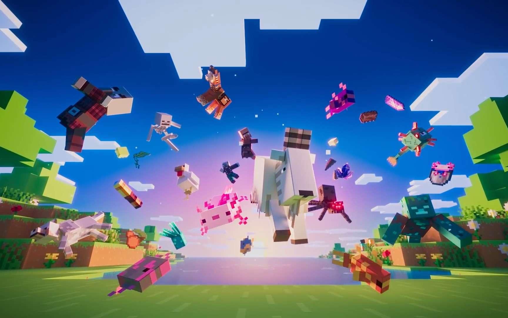 La mise à jour Caves & Cliffs Part Ide Minecraft est disponible. © Microsoft