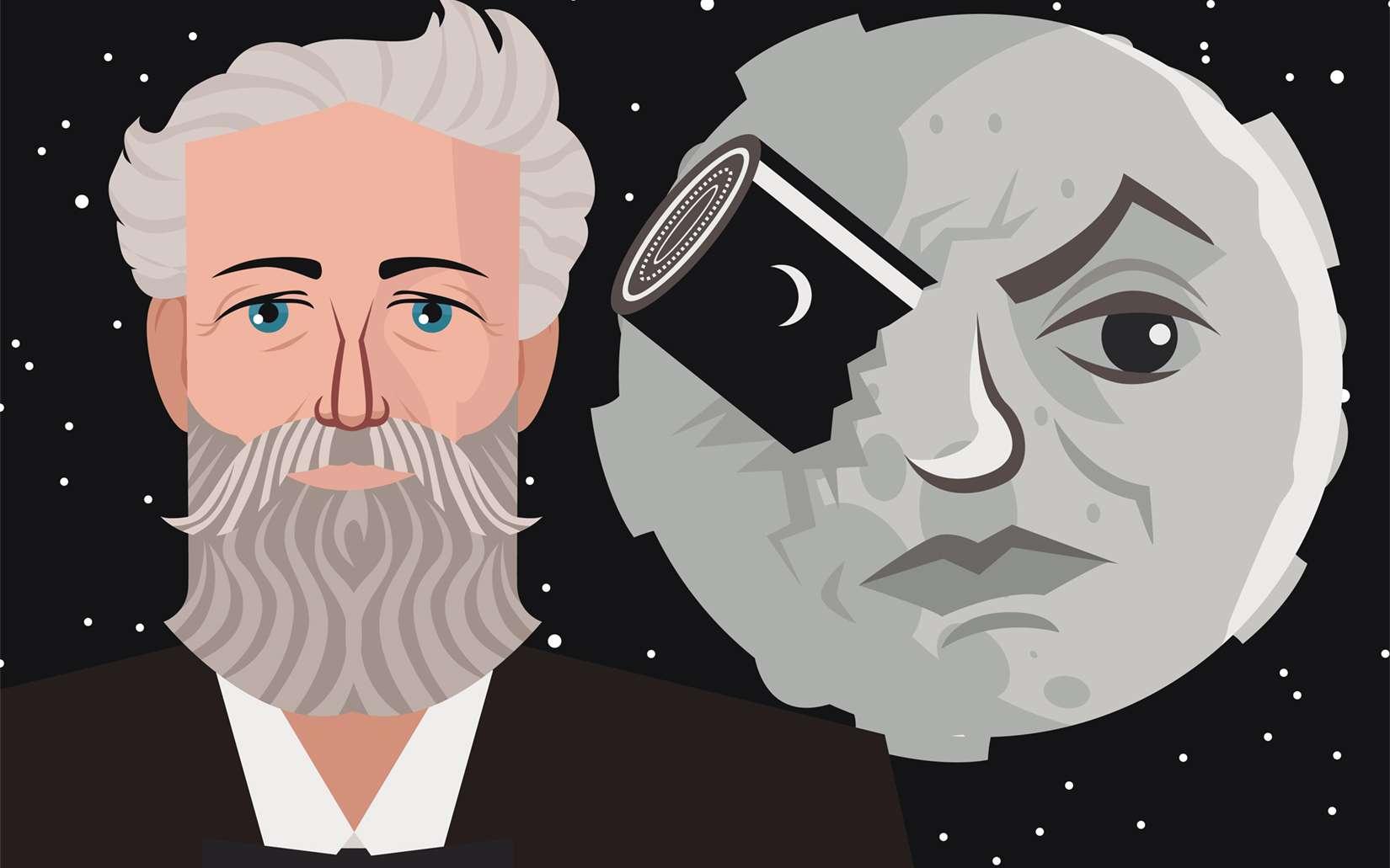 De la Terre à la Lune, de Jules Verne, a inspiré le film Le Voyage dans la Lune de George Méliès. © mathiasdelcarmine, Adobe Stock