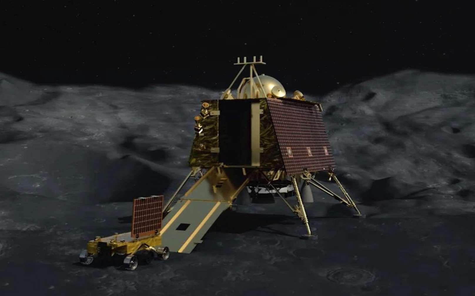 Le pôle Sud lunaire vu par la sonde Clémentine de la Nasa. © Isro