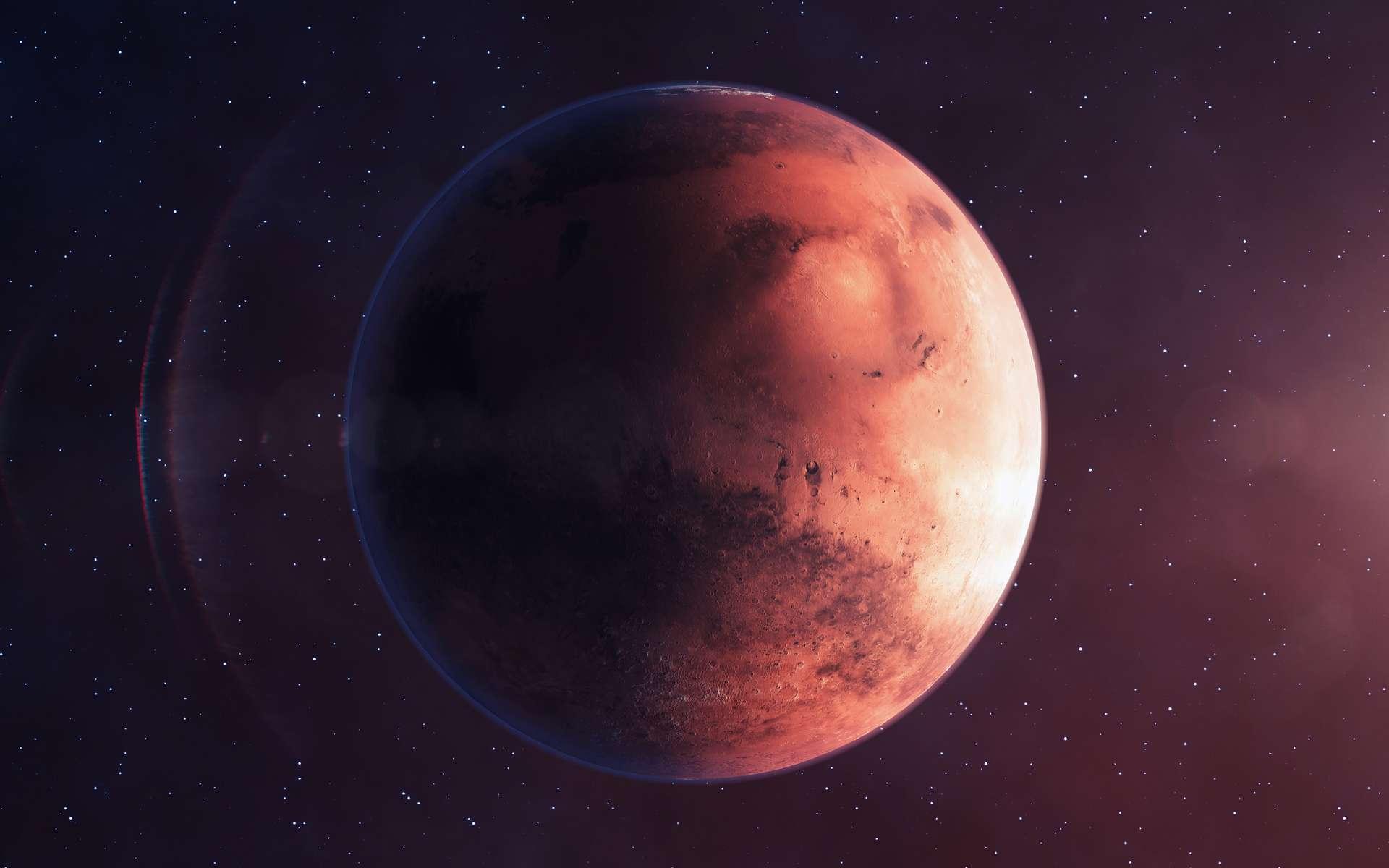 La formation de la Planète rouge pourrait avoir nécessité une quinzaine de millions d'années de plus que ce que l'on pensait. © Dmytro, Adobe Stock