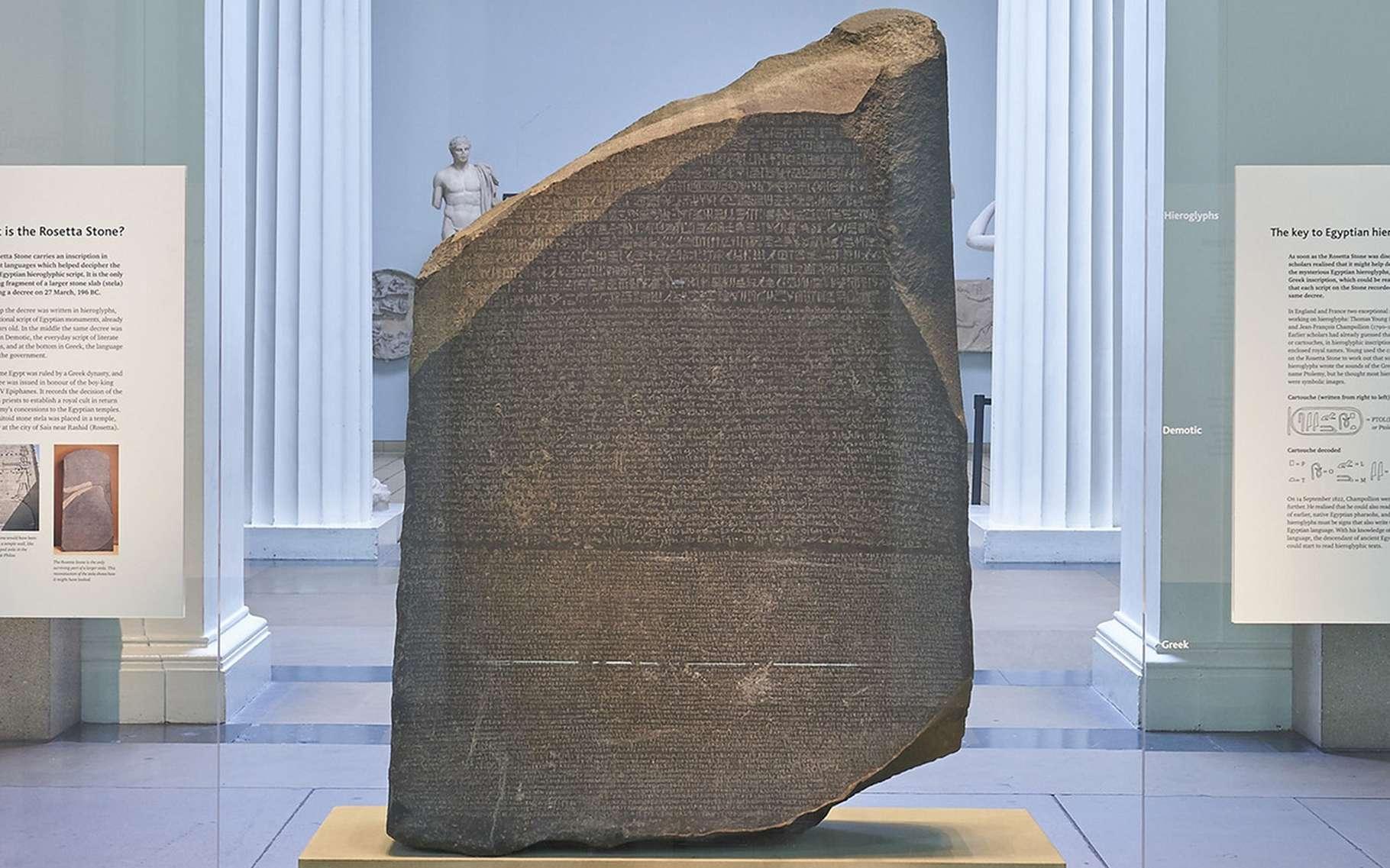La pierre de rosette a été numérisée en 3D. © British Museum