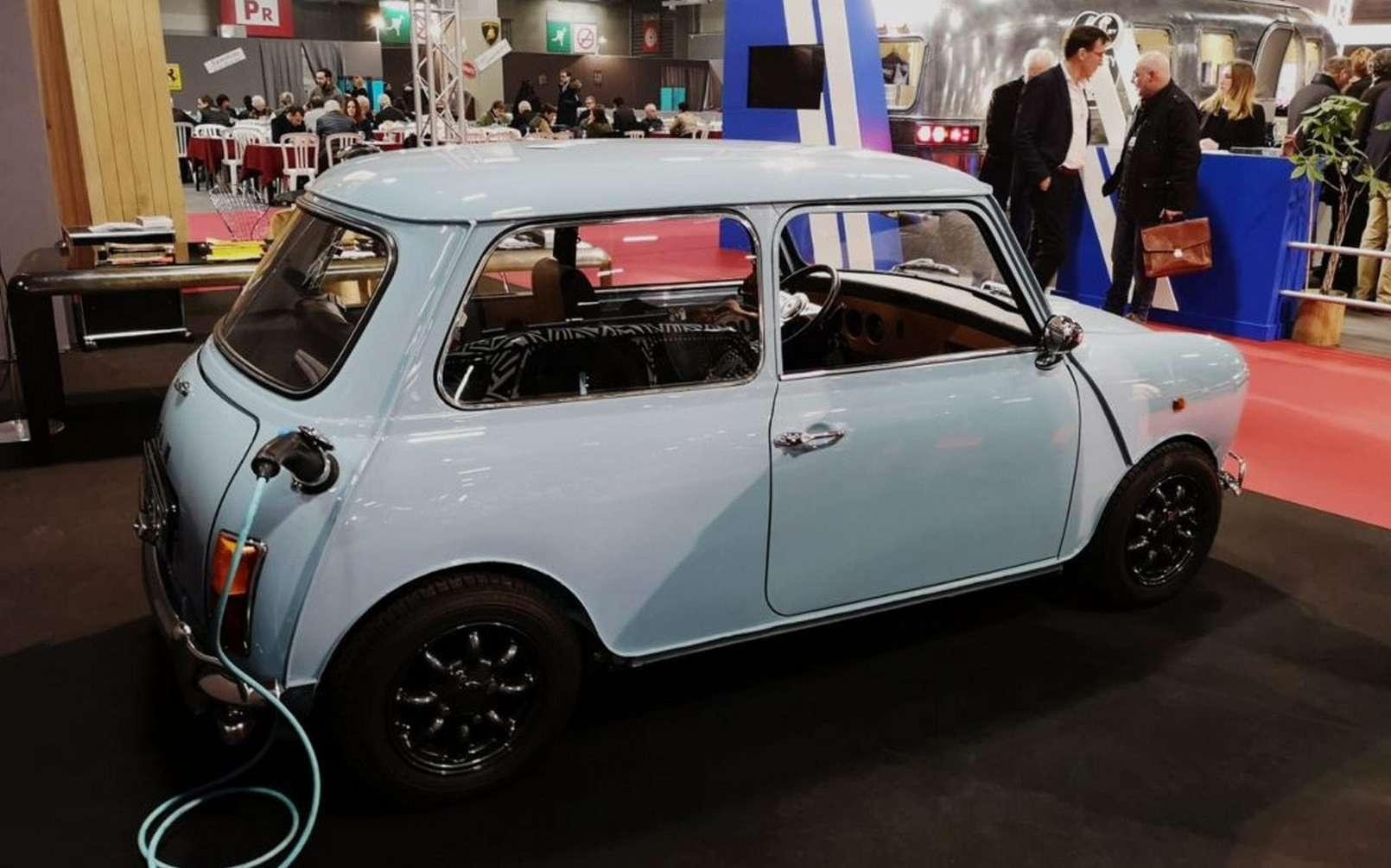 Ian Motion est l'une des entreprises françaises spécialisées dans le rétrofit électrique de véhicules de collection, avec une prédilection pour l'Austin Mini. © Ian Motion