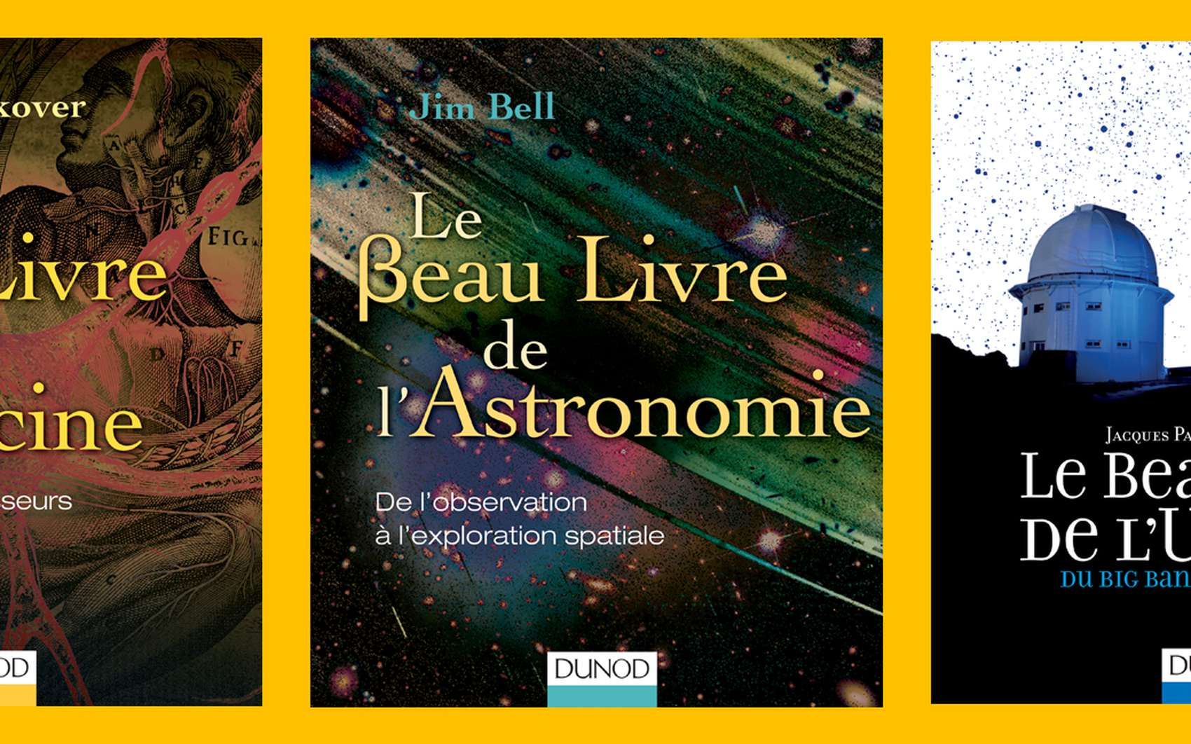 Tous les domaines de la science en grandes étapes, de la médecine à l'univers, sont à découvrir dans la collection « Les beaux livres du savoir » chez Dunod. © Dunod
