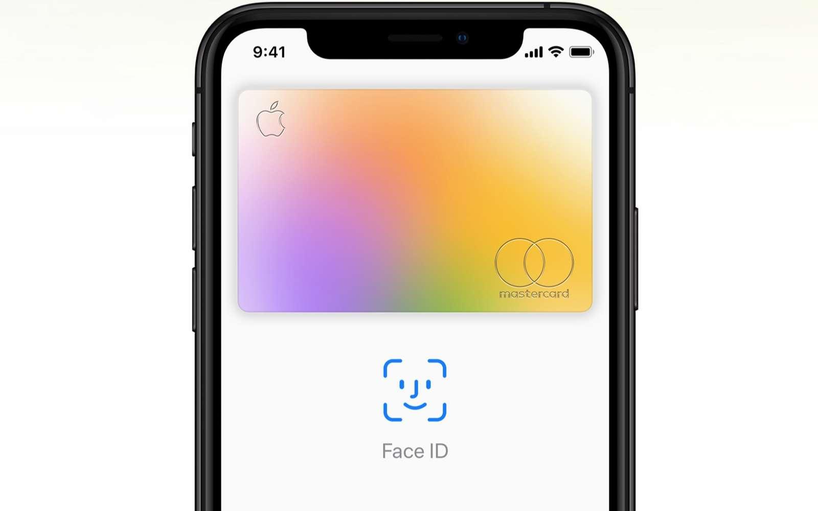 Apple Card est à la fois un service de paiement virtuel à l'intérieur de l'iPhone, mais aussi une carte physique utilisable dans le commerce. © Apple