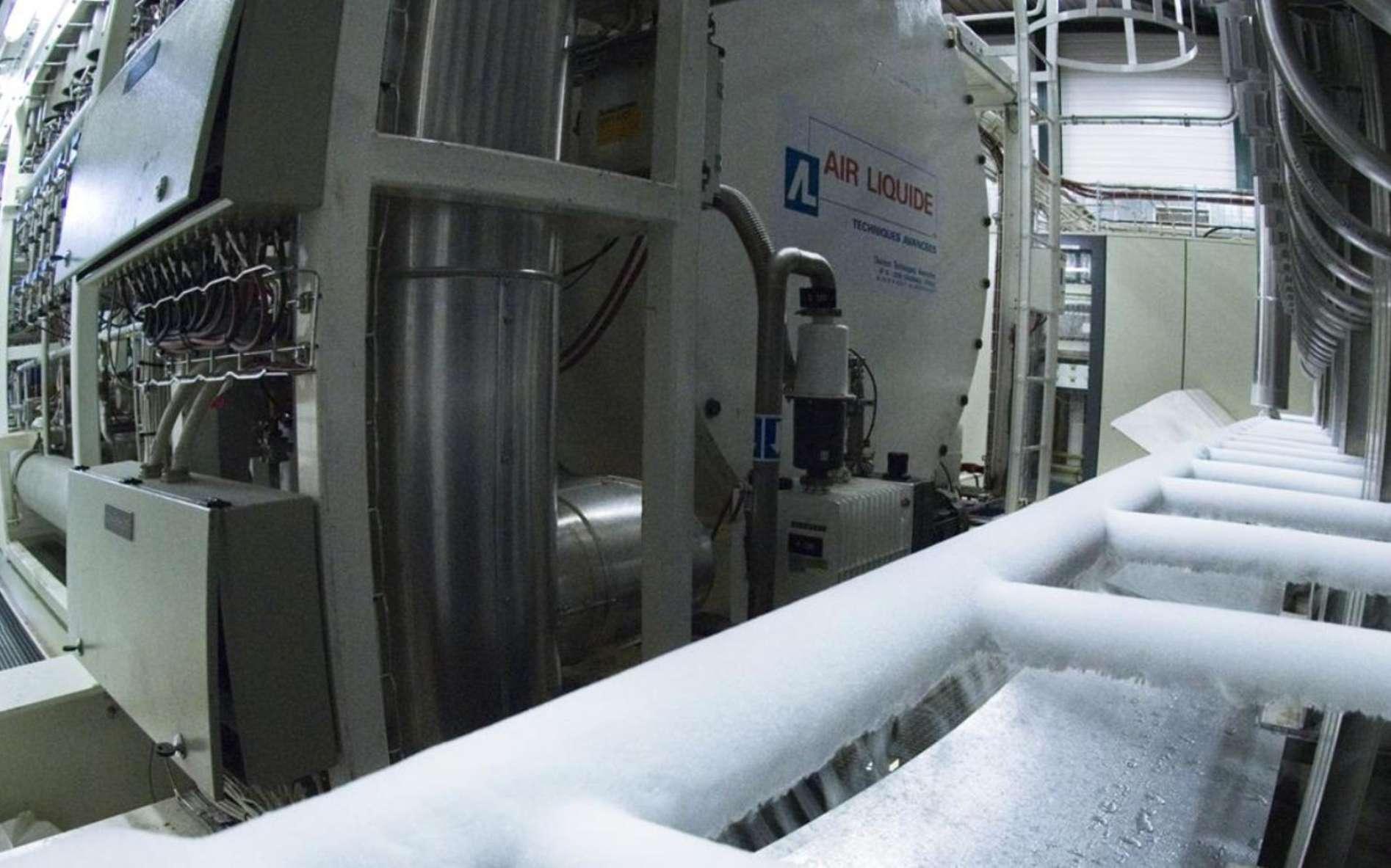 Une vue d'un système de refroidissement au Cern. © Cern