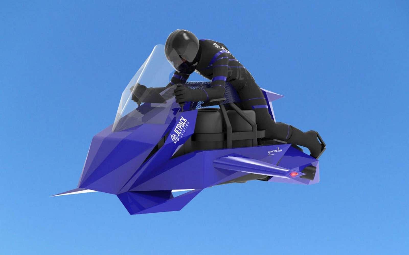 Dans un premier temps, la Speeder de Jetpack Aviation sera construite en une vingtaine d'exemplaires. Elle sera peu discrète avec un volume sonore de 120 dB. © Jetpack Aviation