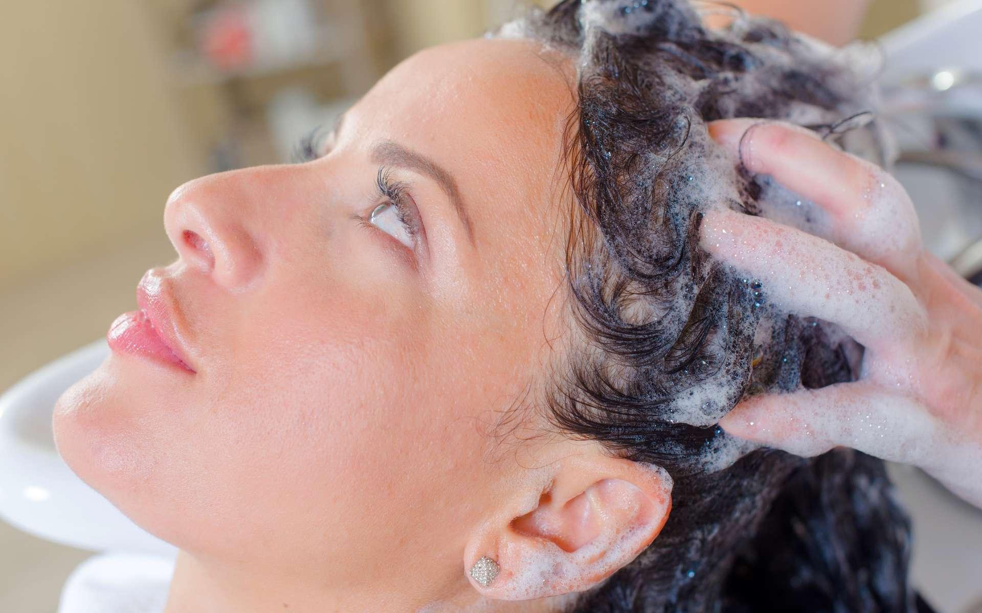 Les shampoings aux œufs constituent un bol nutritif pour les cheveux secs. © Phovoir