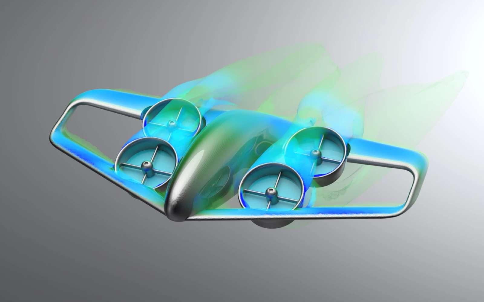 Le concept Skybus consiste en un grand bus aérien VTOL électrique. Il serait capable de transporter 30 à 50 passagers à travers la ville. © GKN Aerospace