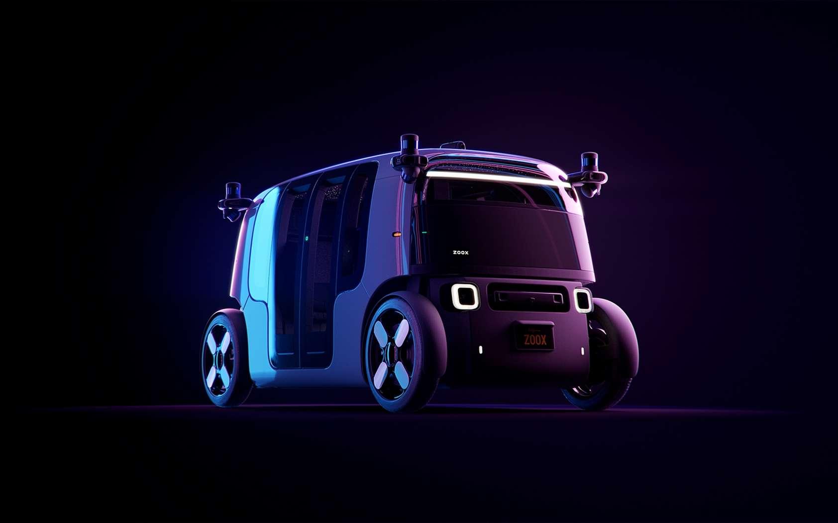 La navette autonome Zoox peut accueillir quatre personnes. © Zoox