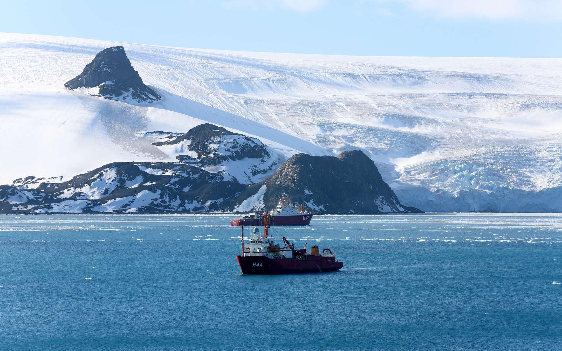 L'Antarctique, un mur de glace infranchissable selon la théorie de la Terre plate. © Marine du Brésil, Flickr