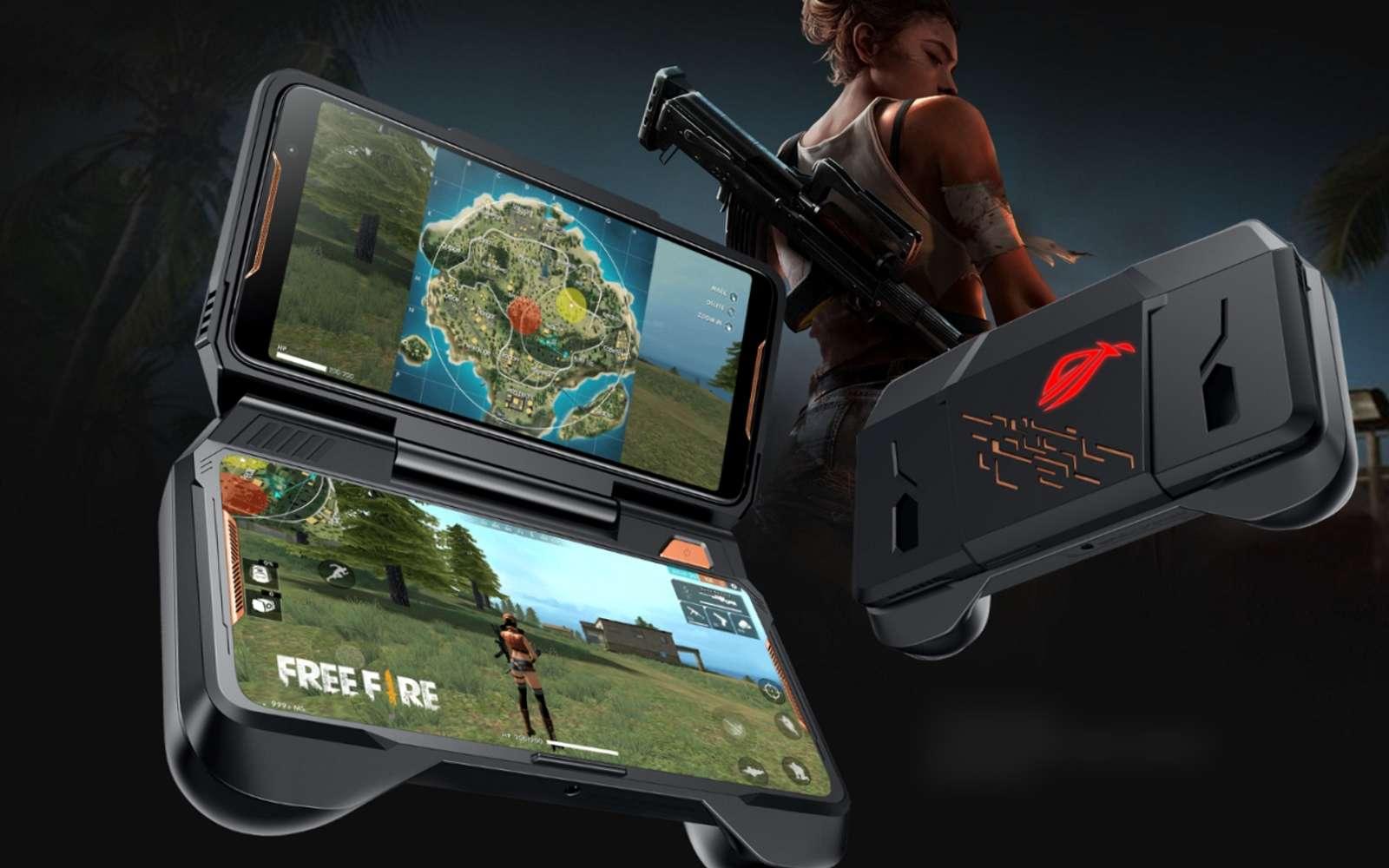 Avec ses accessoires inédits, le ROG Phone d'Asus est un smartphone à part. À mi-chemin entre l'ordinateur, la console de jeu Android, il fait aussi... téléphone ! © Asus