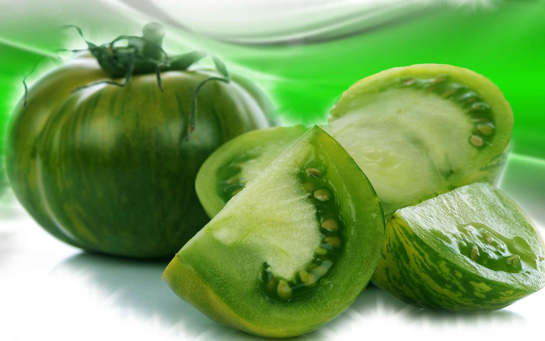 De délicieuses tomates vertes à cuisiner. © Thodonal, Fotolia