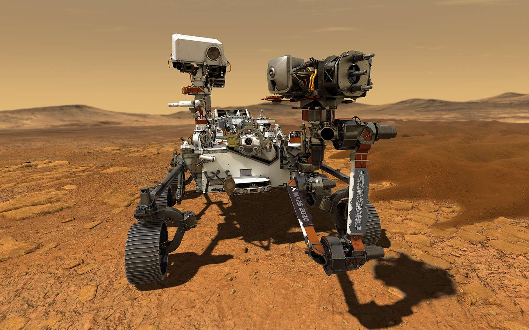Vue d'artiste du rover Perseverance de la Nasa (Mars 2020). © Nasa, JPL-Caltech