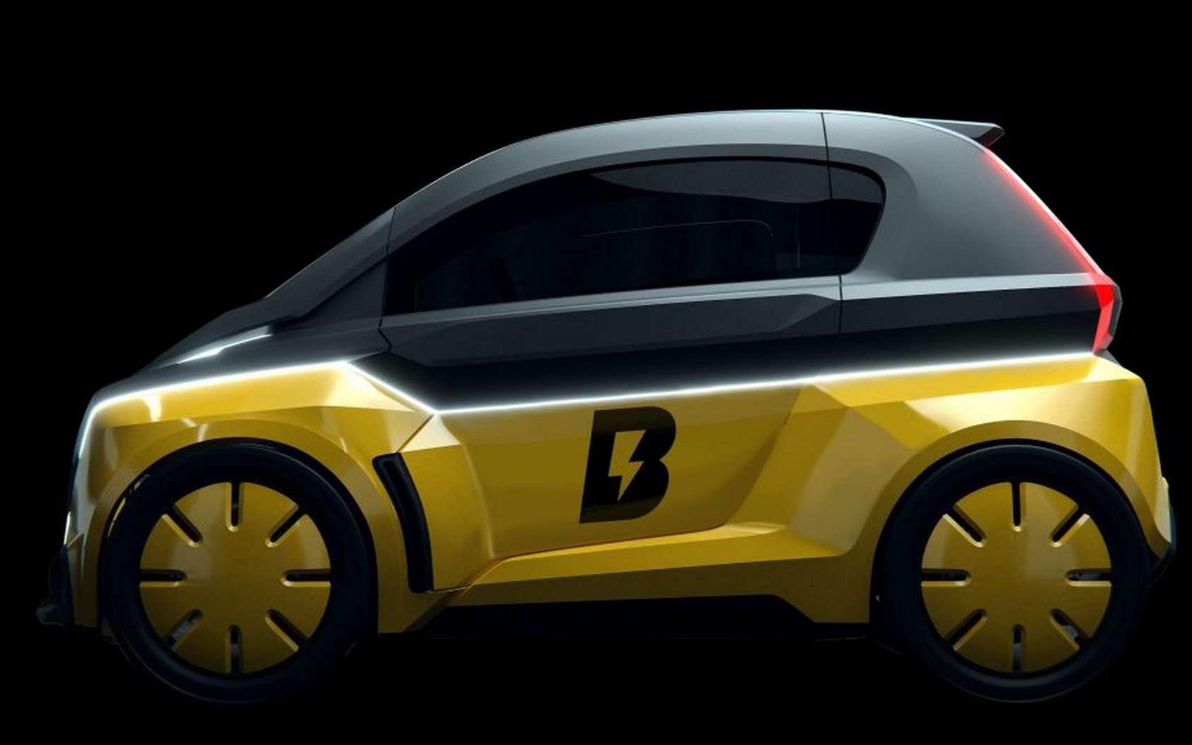 La maquette de la Bolt Nano présentée lors du salon Vivatech en présence d'Usain Bolt. © Bolt Mobility